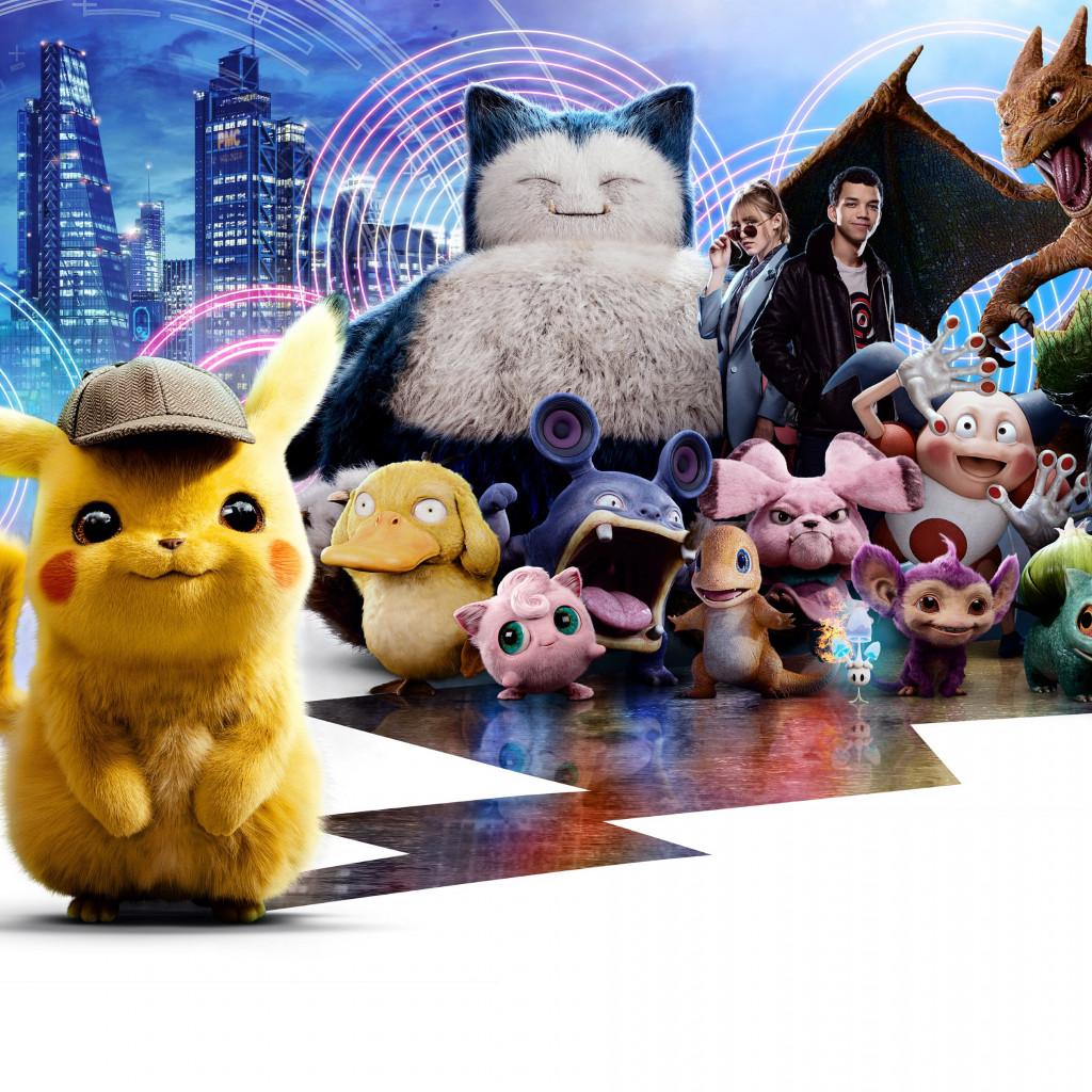 Download Wallpaper Pokemon Detective Pikachu 1024x1024