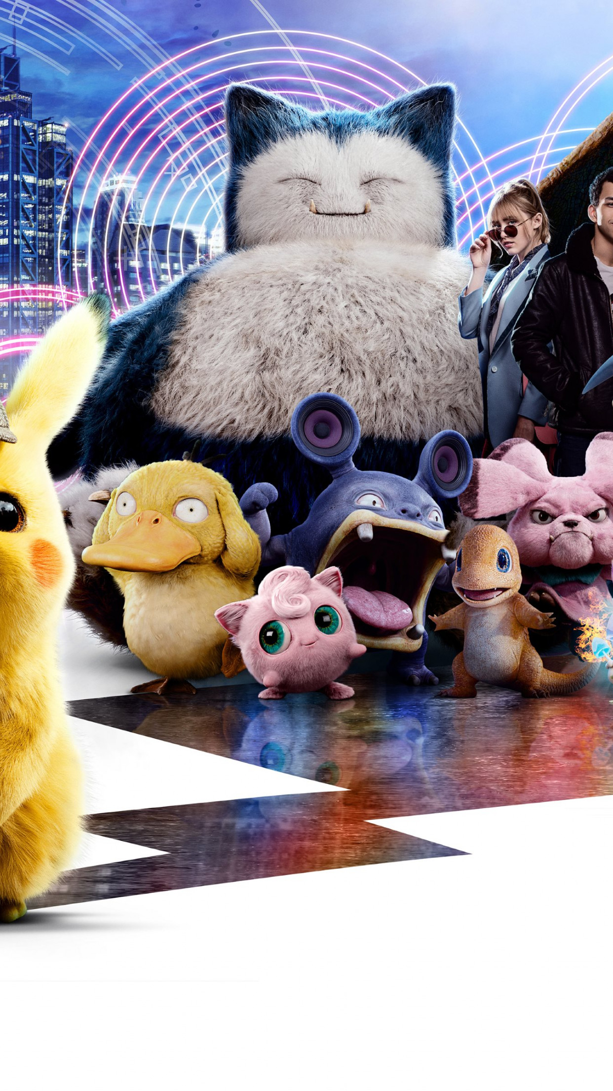 detective pikachu all pokemon wallpaper