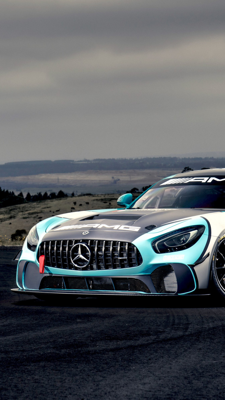 Mercedes AMG GT4 wallpaper 750x1334