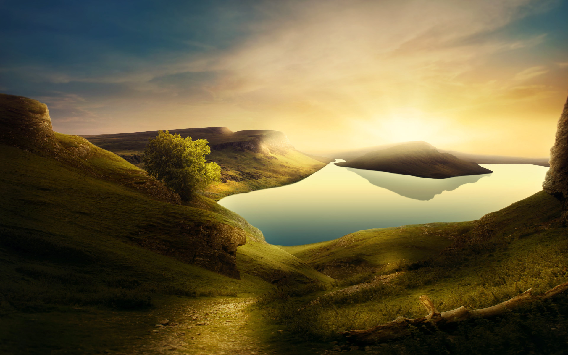Dreamland landscape wallpaper 1920x1200