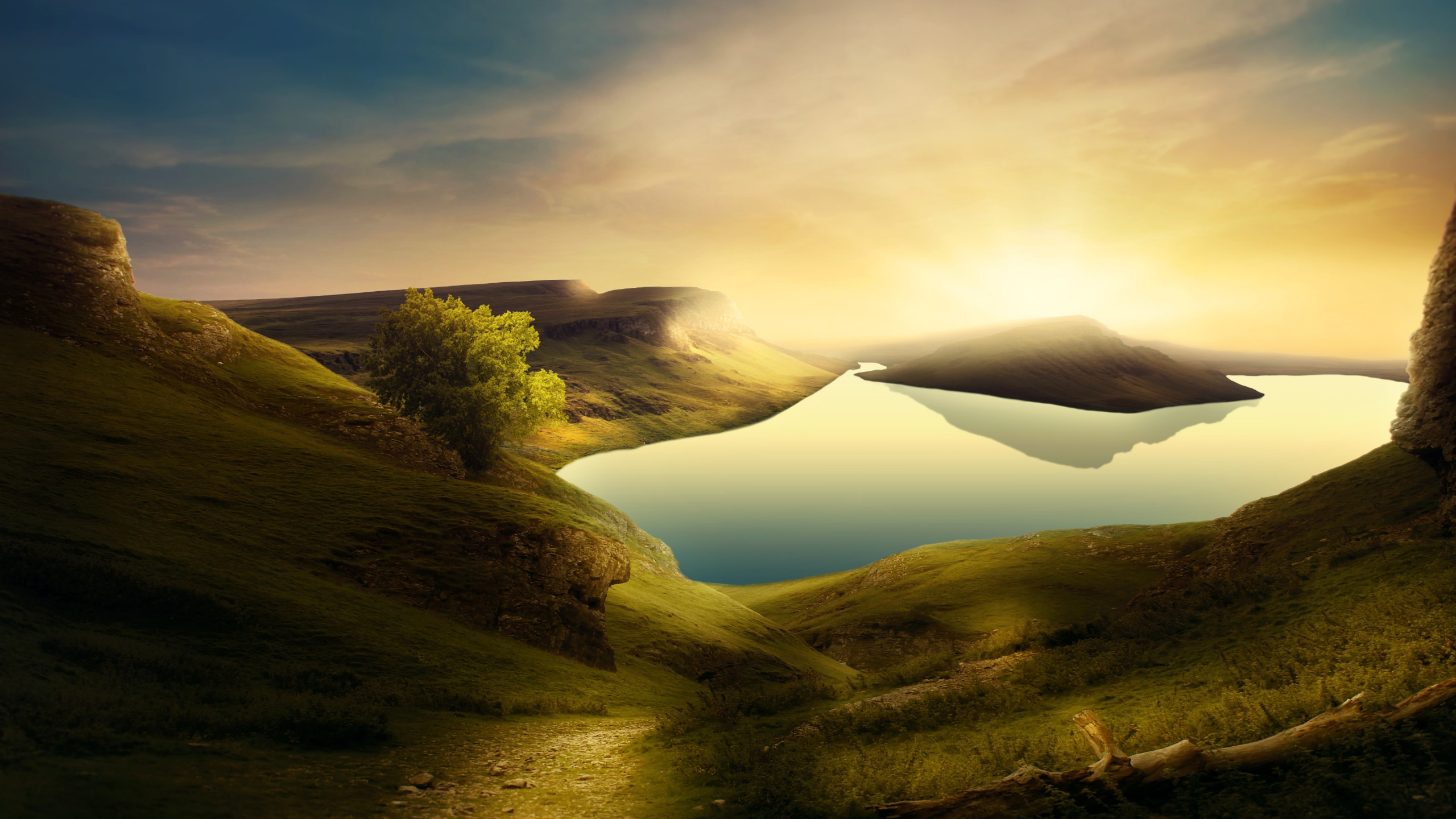 Download Wallpaper Dreamland Landscape 2560x1440