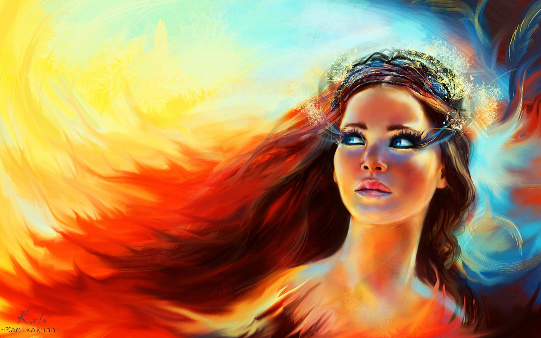 Download wallpaper: Katniss Everdeen from Catching fire ...