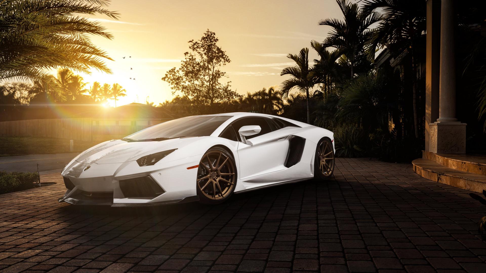 Adv1 Aventador Lamborghini Miami Wallpapers: Download Wallpaper: Lamborghini Aventador With ADV1 Rims