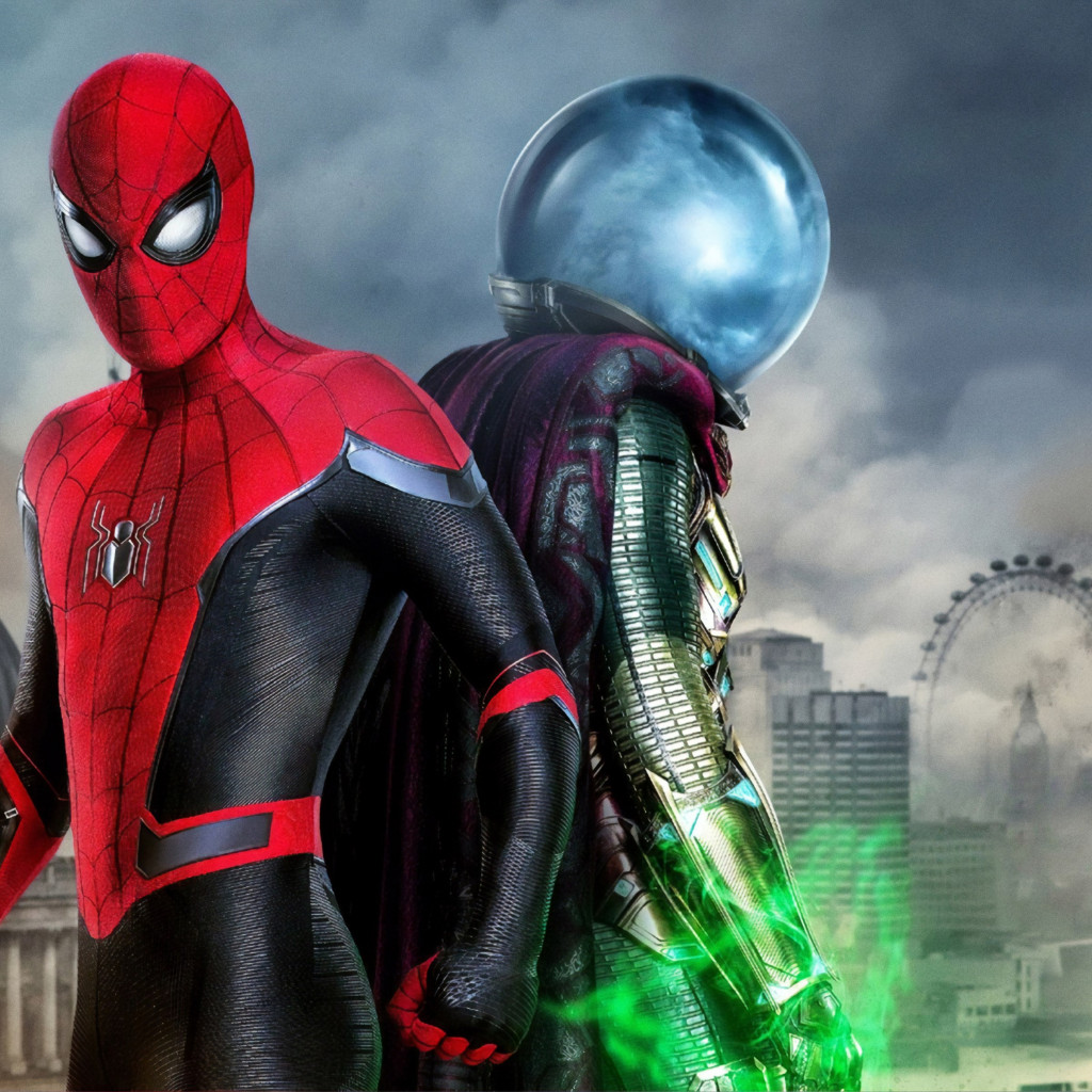 Spider Man and Mysterio | 1024x1024 wallpaper