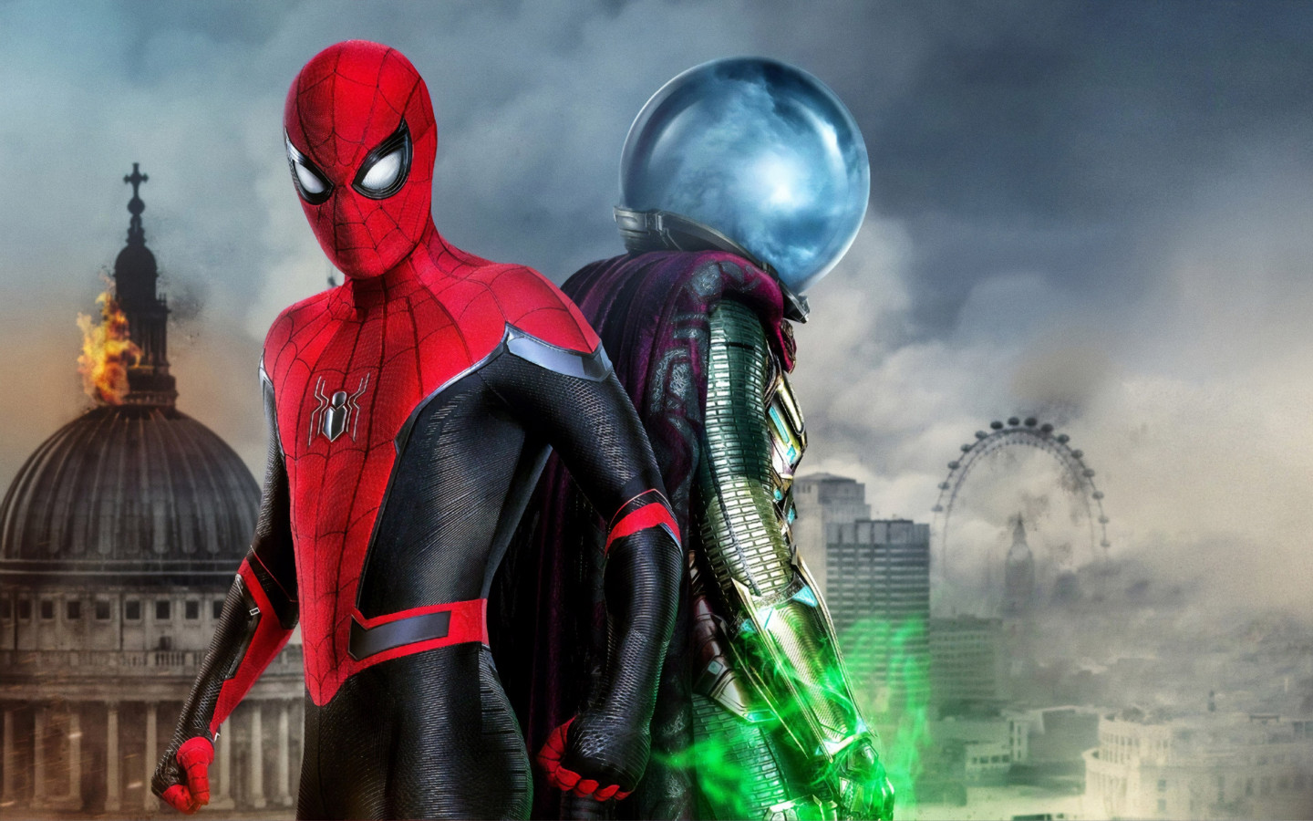 Spider Man and Mysterio | 1440x900 wallpaper