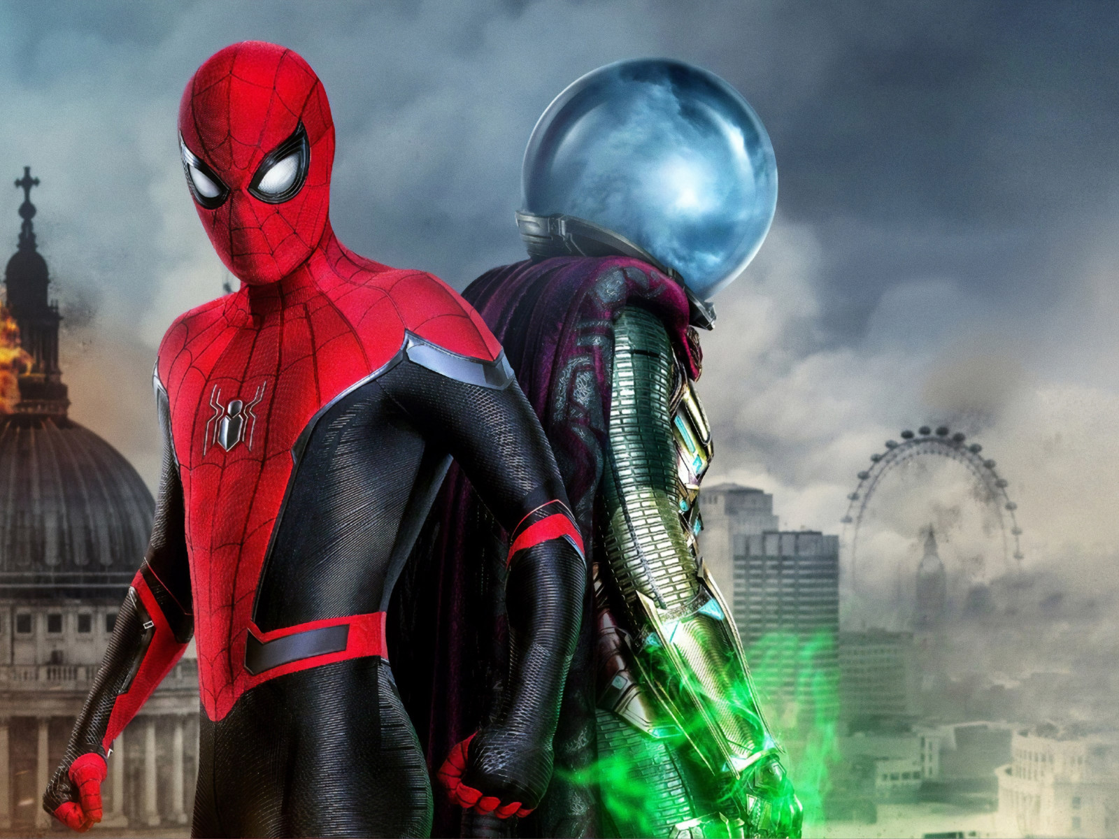 Spider Man and Mysterio | 1600x1200 wallpaper