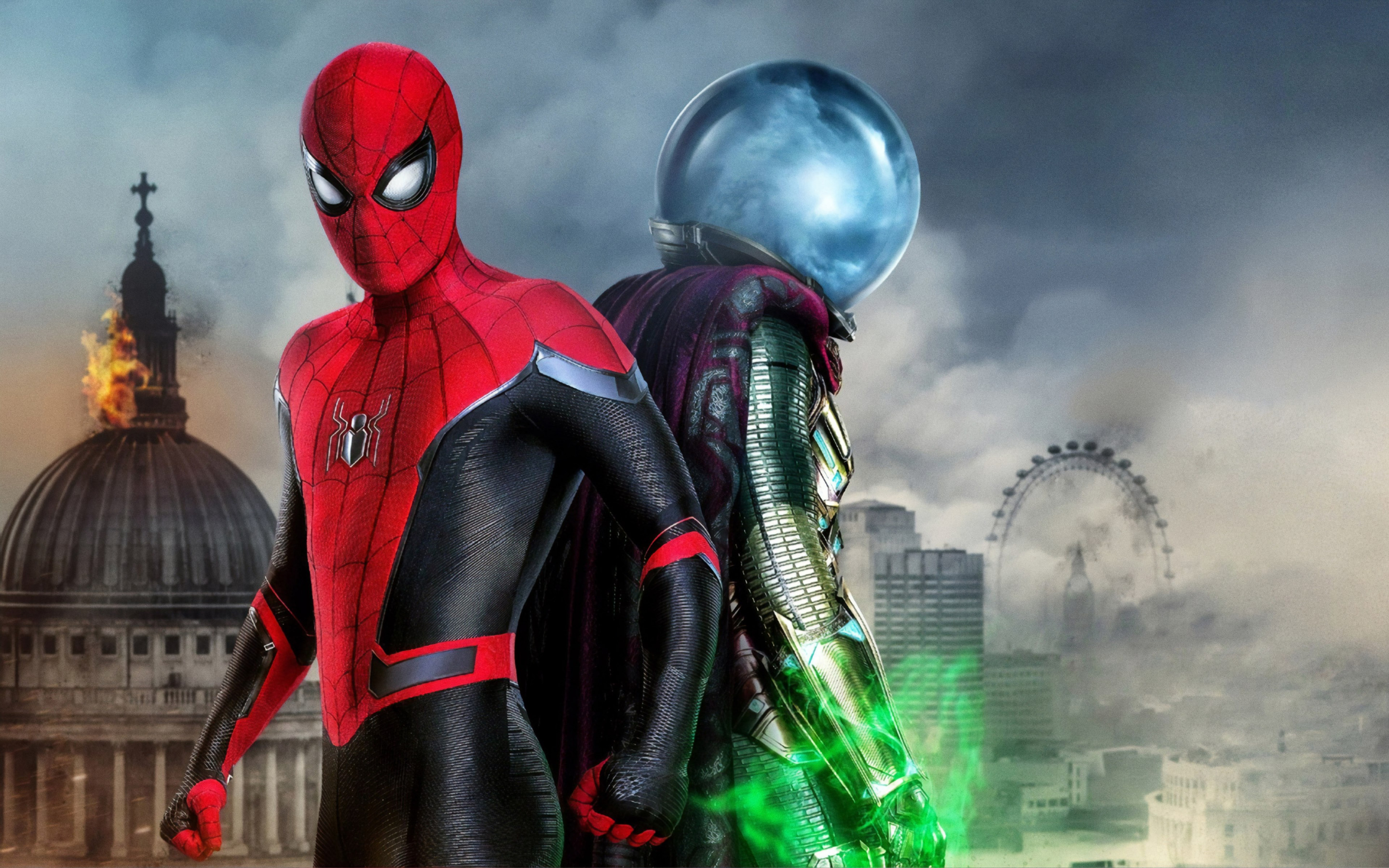 Download Wallpaper Spider Man And Mysterio 2880x1800