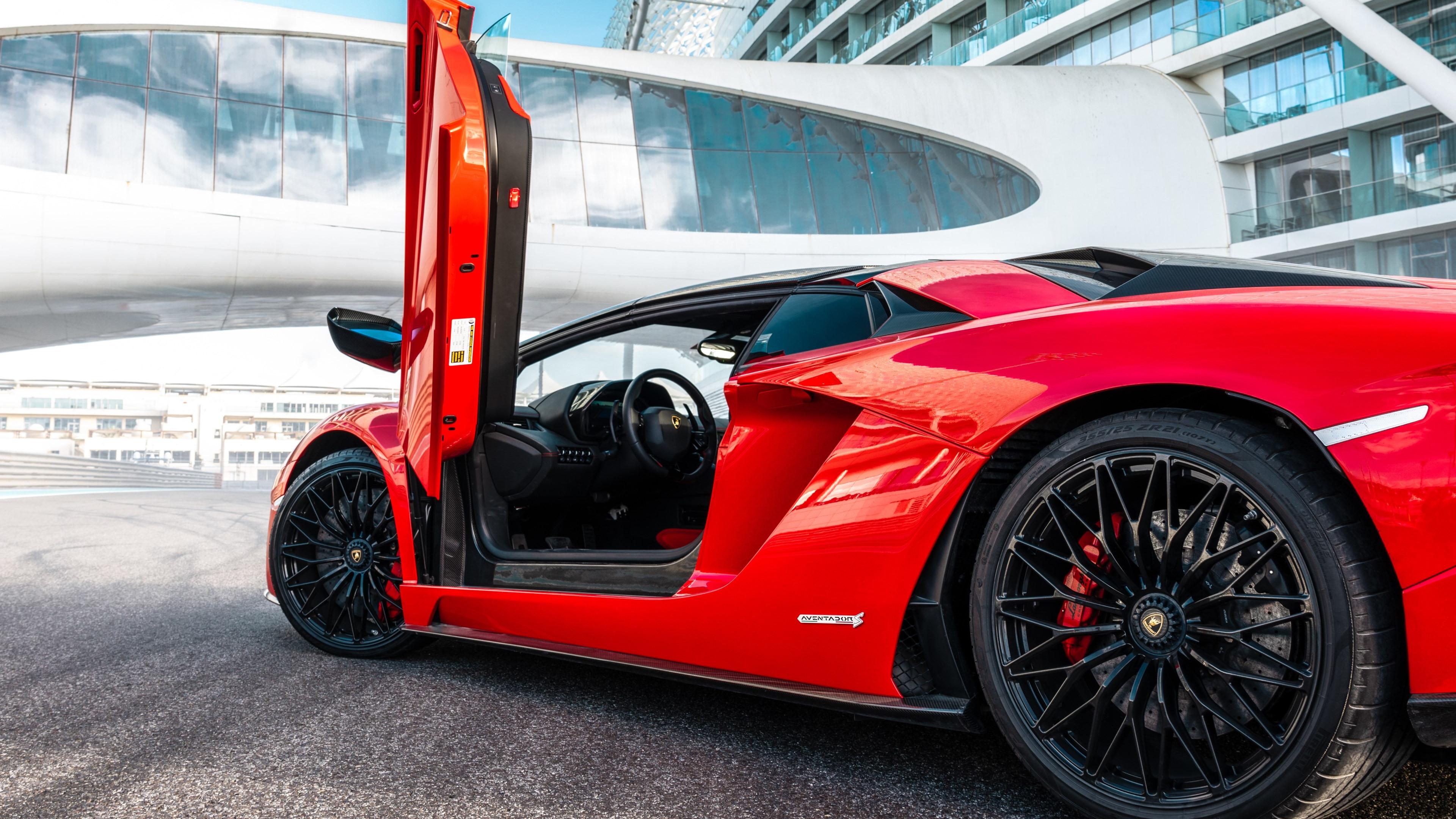 Download Wallpaper Lamborghini Aventador S Roadster 3840x2160