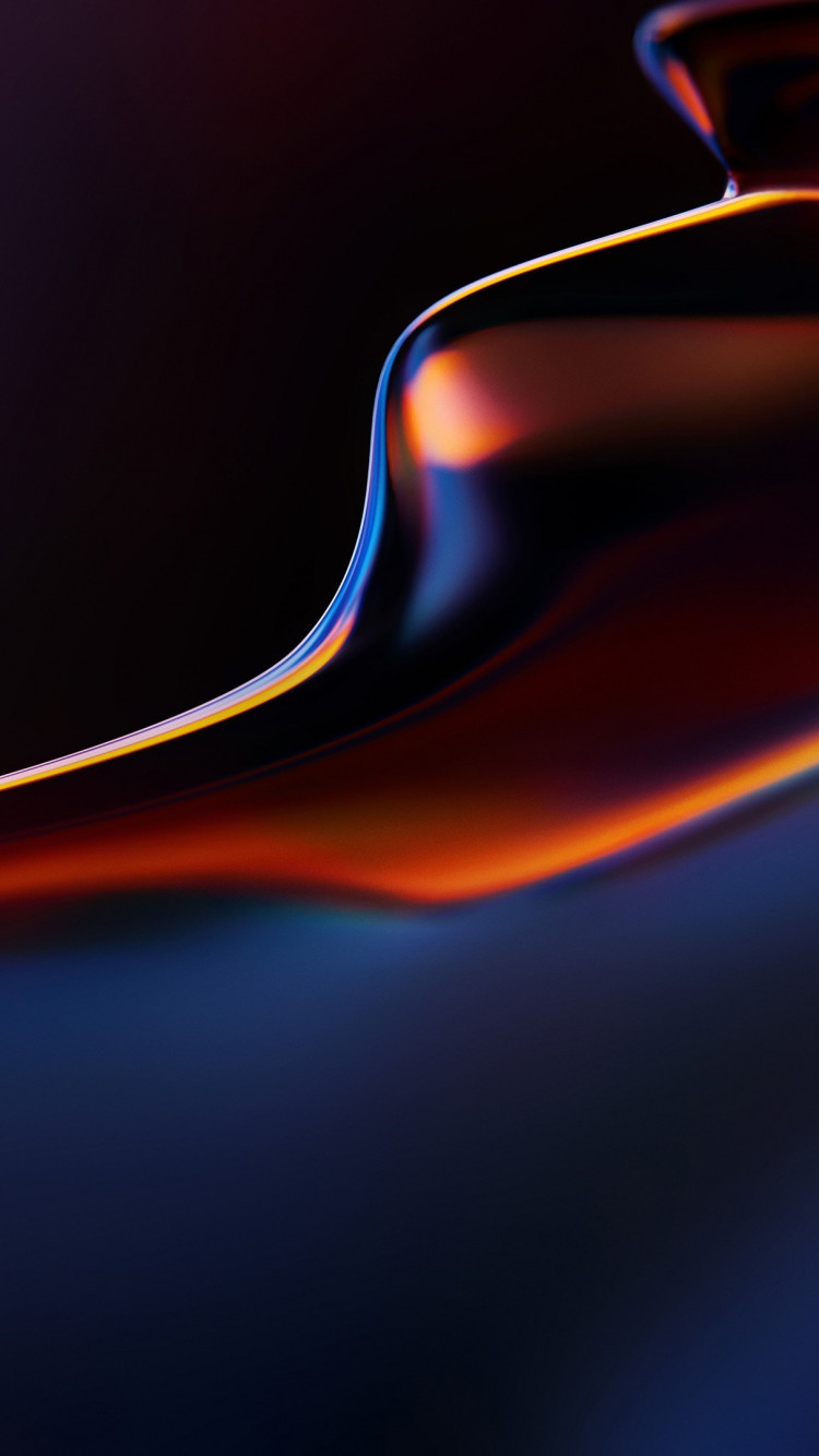 Abstract, flow, OnePlus 6T wallpaper 750x1334