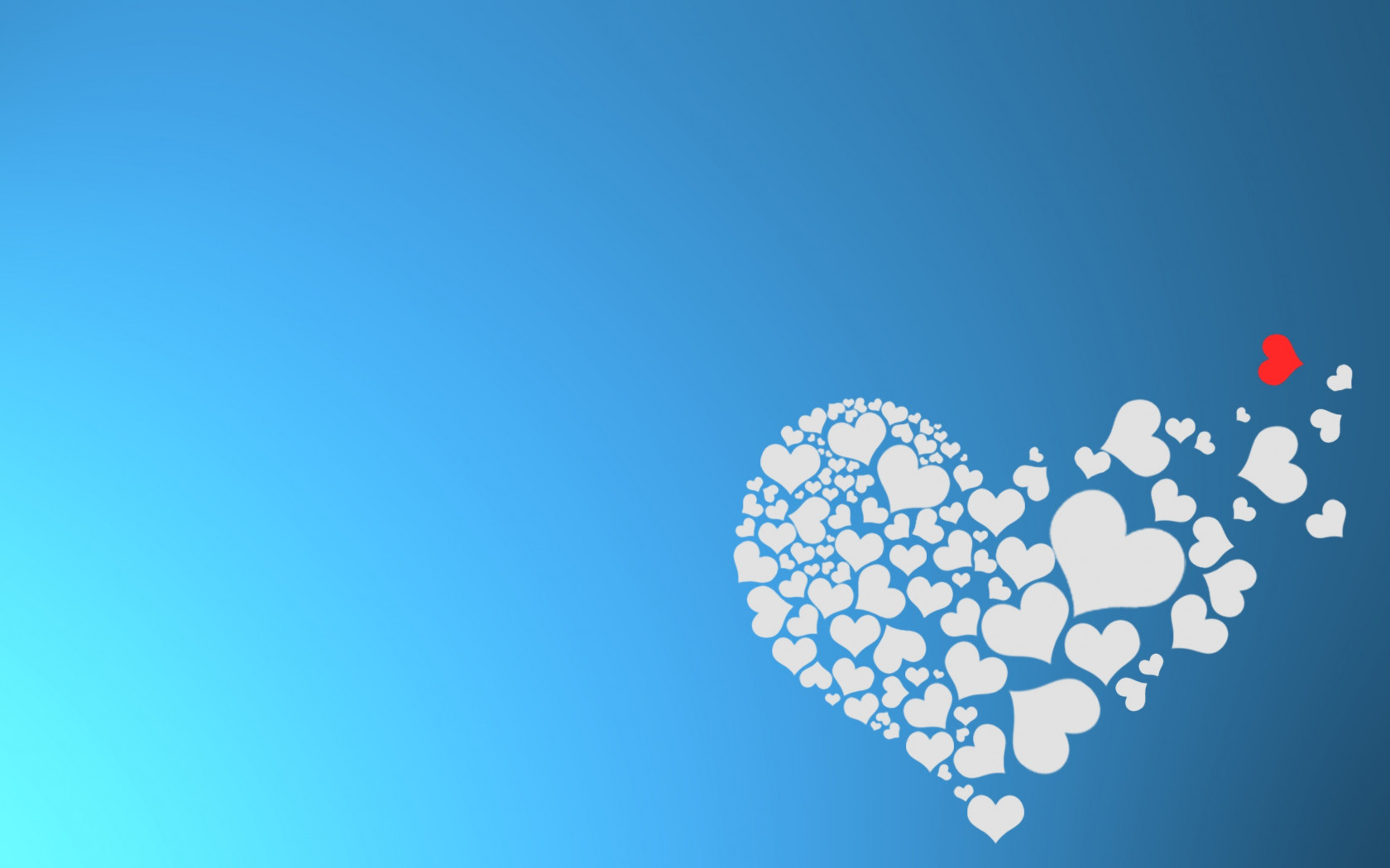 The hearts of love wallpaper 1680x1050