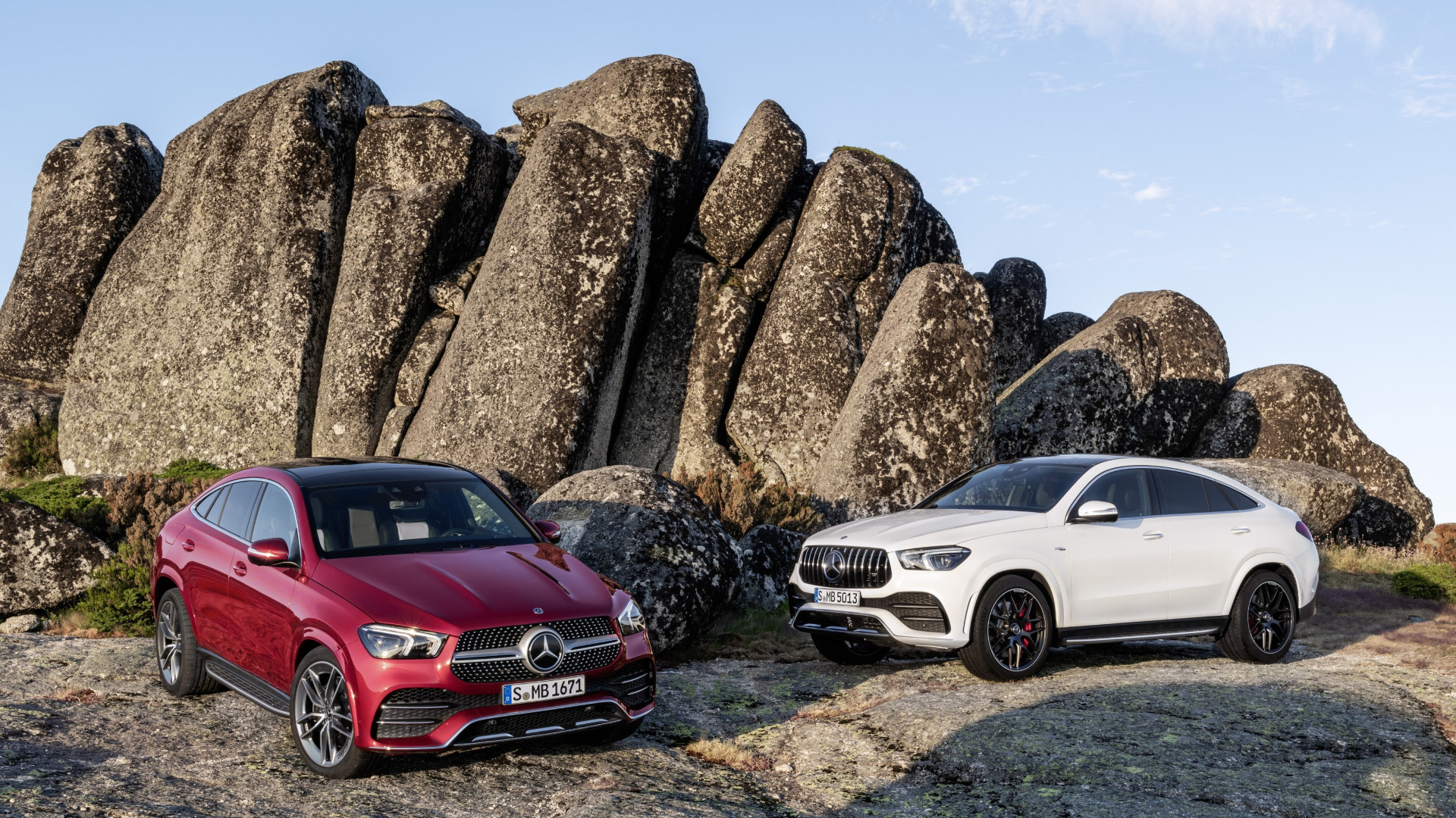 Download wallpaper: Mercedes Benz GLE AMG Coupe 1920x1080