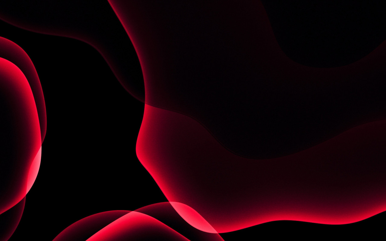 iOS 13 red abstract wallpaper 1280x800