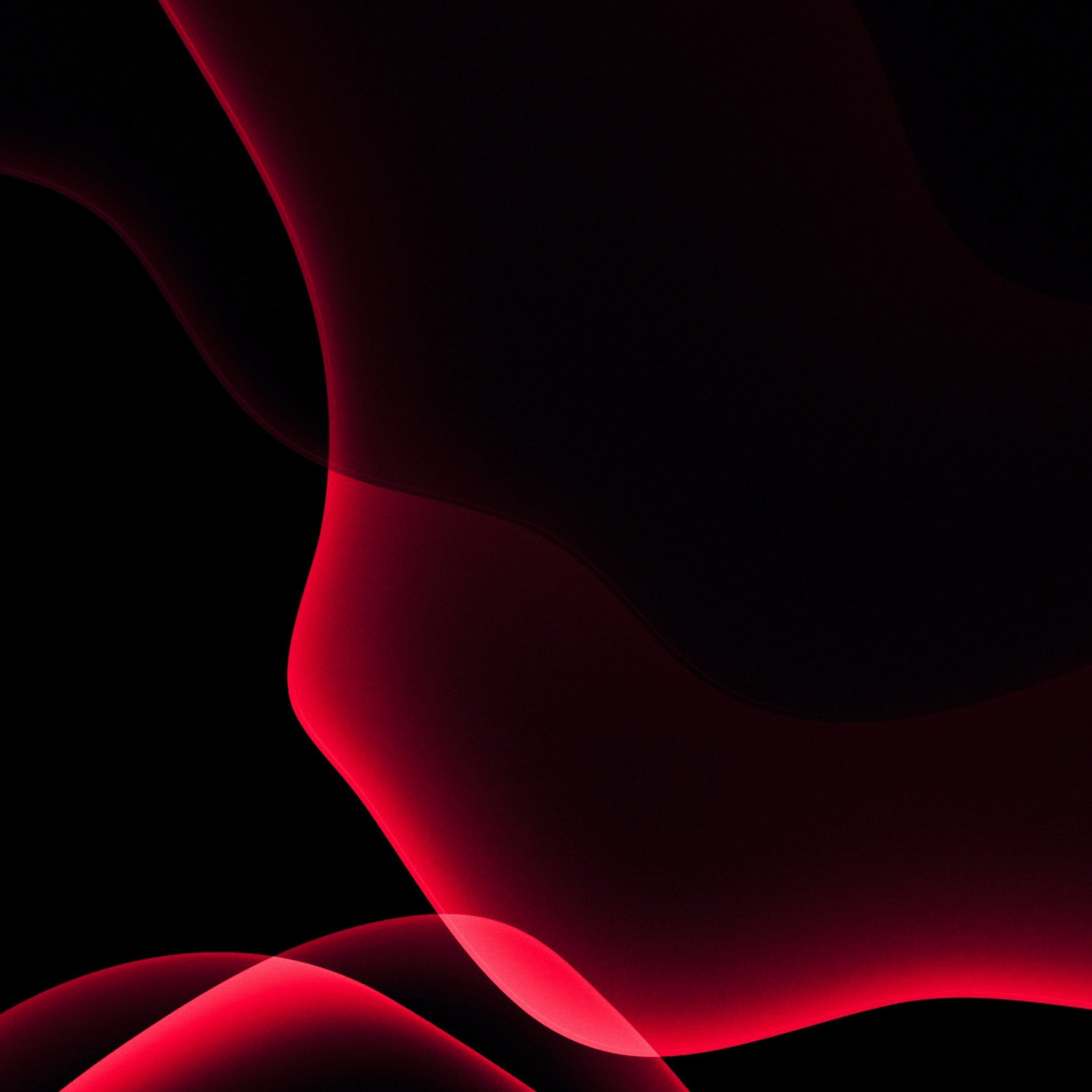 iOS 13 red abstract wallpaper 2048x2048