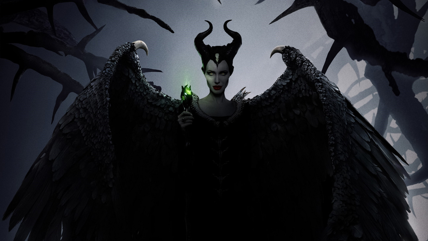 Maleficent: Mistress of Evil poster wallpaper 1366x768