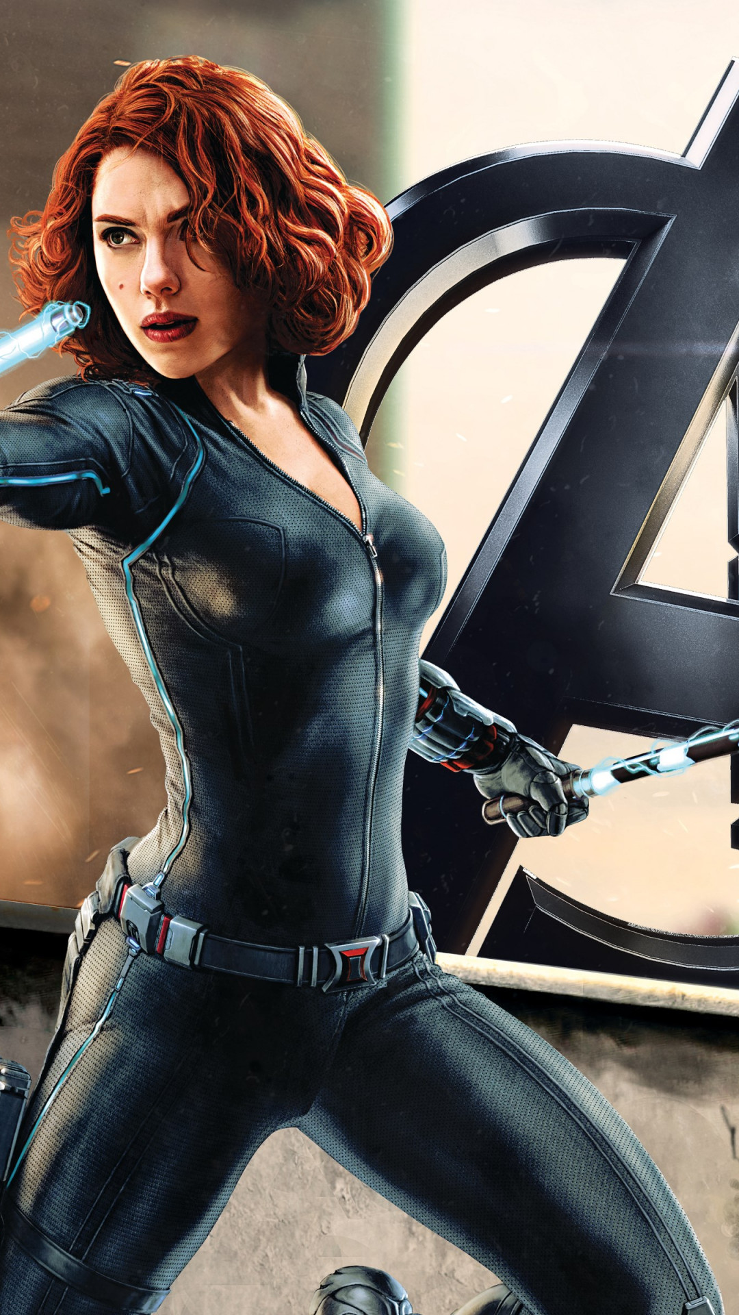 Download Wallpaper Black Widow In Avengers 1080x1920