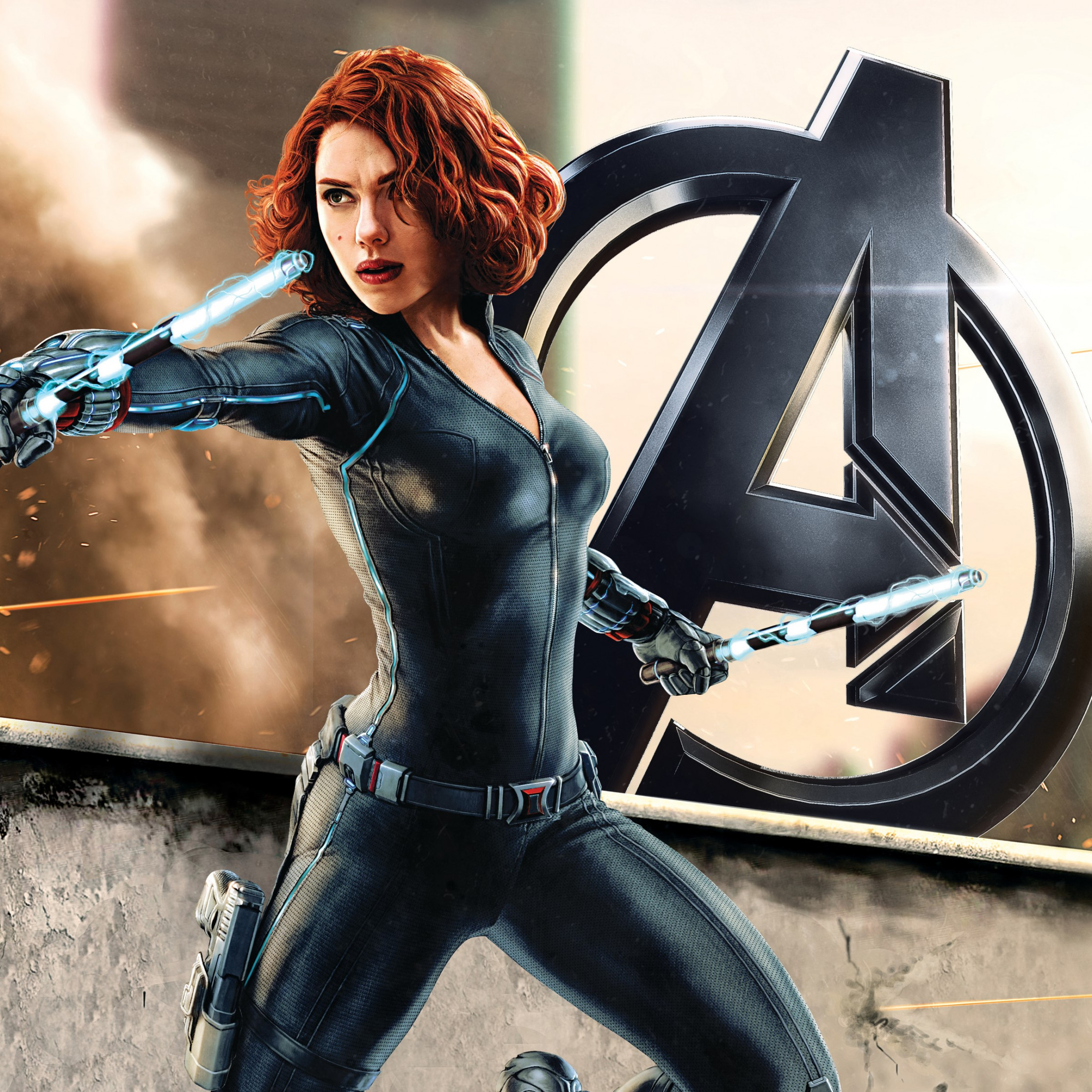 Download Wallpaper Black Widow In Avengers 2224x2224