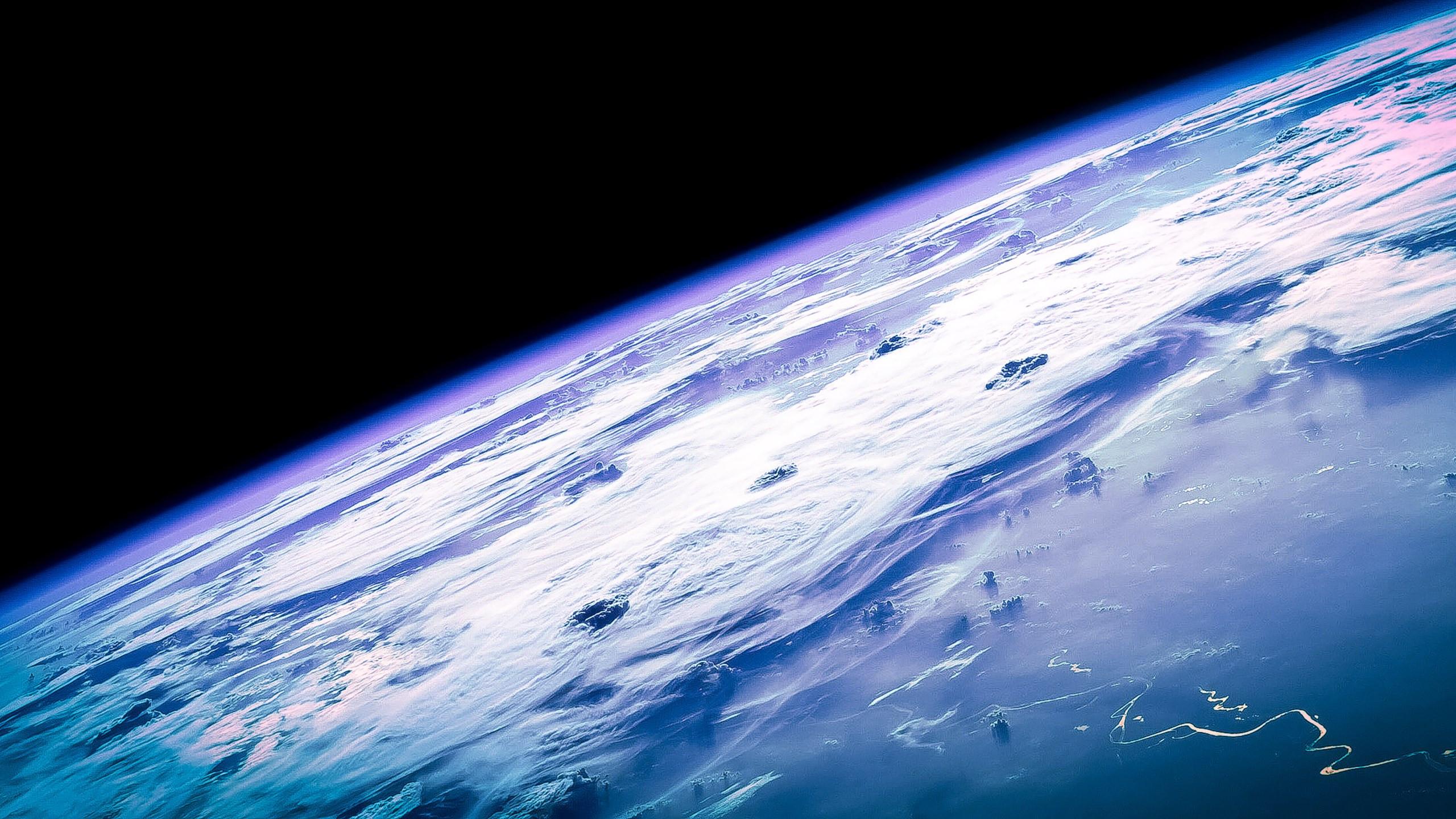 Download Wallpaper Macos X Earth Horizon 2560x1440