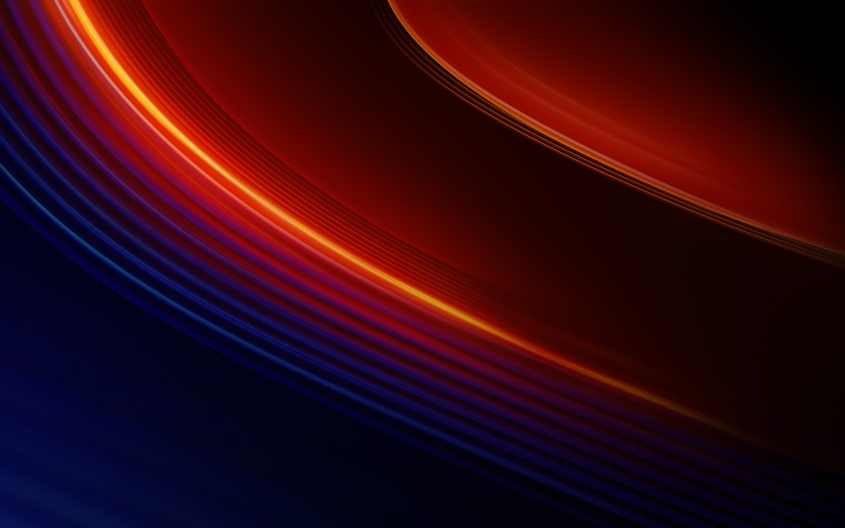 OnePlus 7T Pro warm lines wallpaper 1680x1050