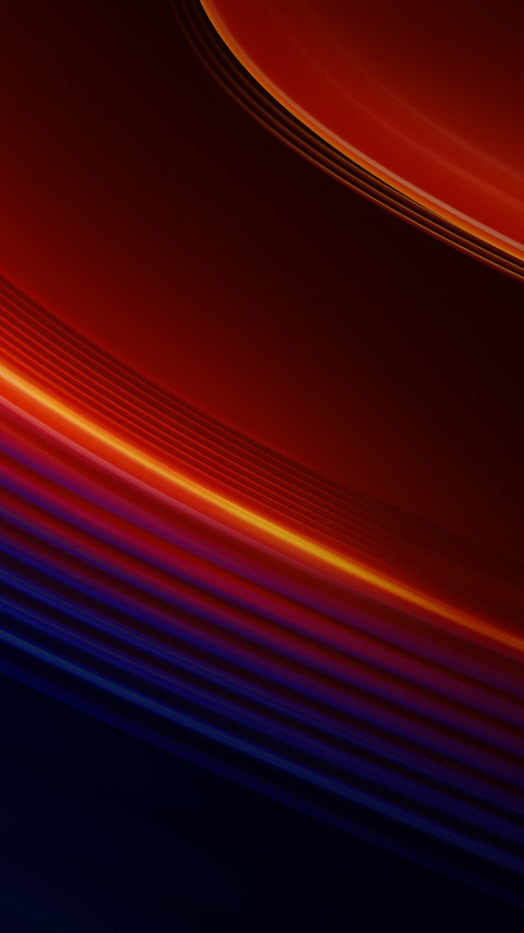 OnePlus 7T Pro warm lines wallpaper 480x854