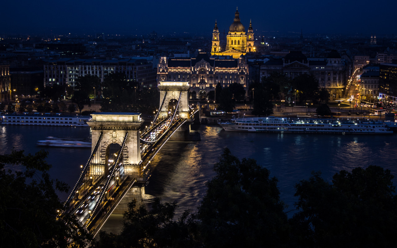 Budapest by Night wallpaper 1280x800