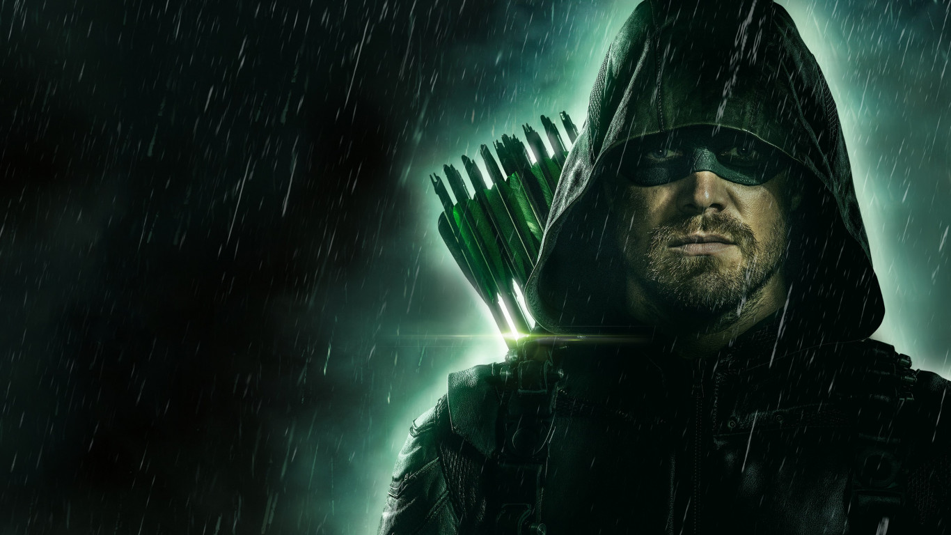 Arrow poster season 8 wallpaper 1366x768