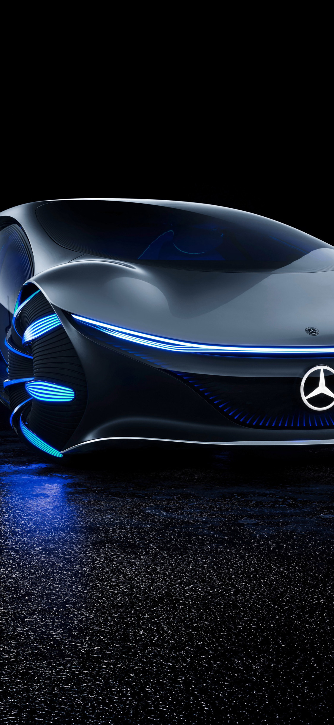 Mercedes Benz VISION AVTR front side wallpaper 1125x2436