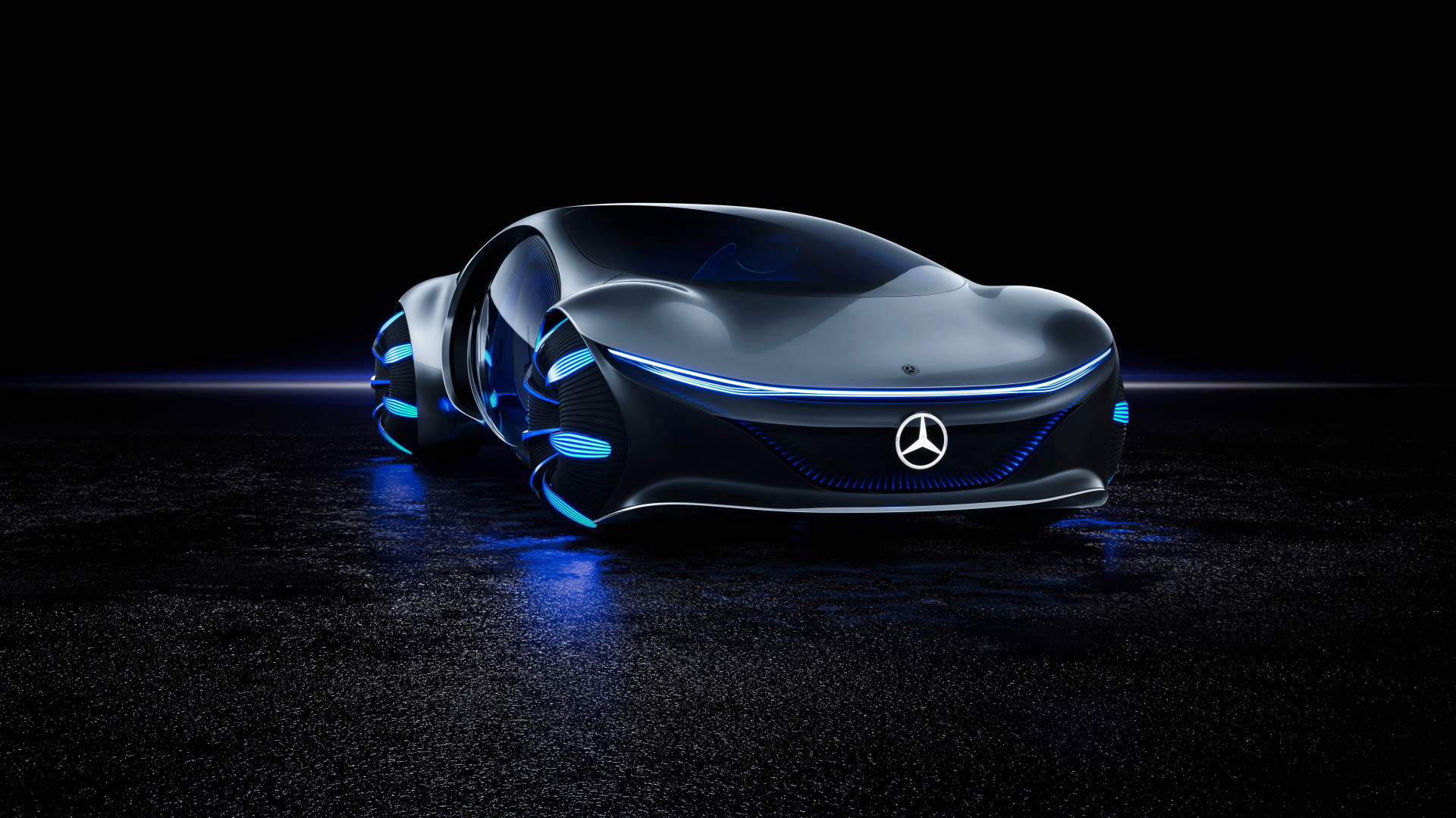 Mercedes Benz VISION AVTR front side wallpaper 1920x1080