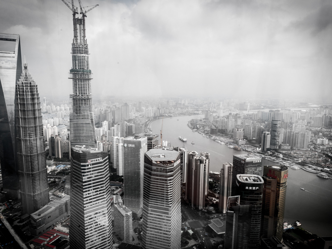 Cityscape from Shanghai, China wallpaper 1280x960