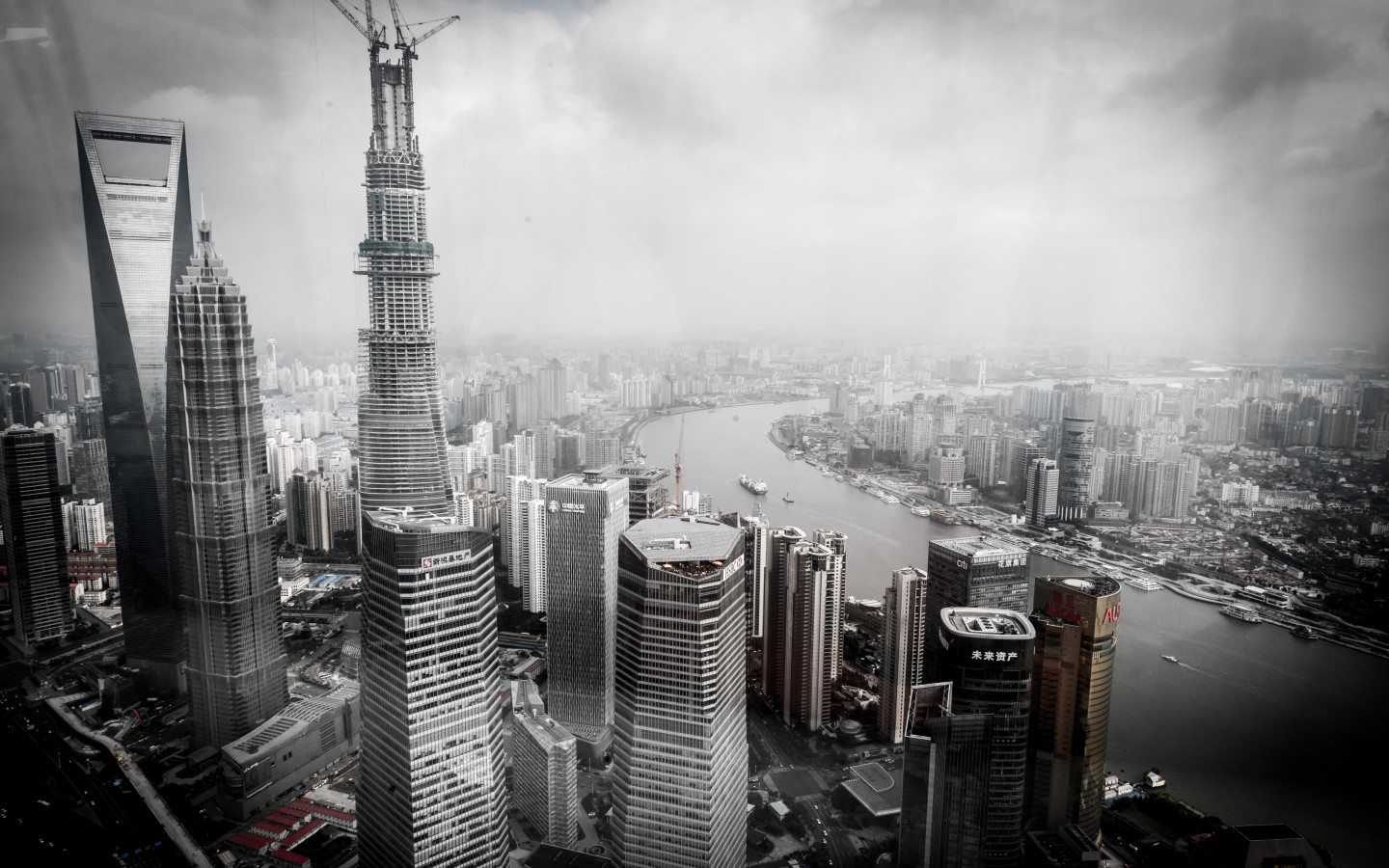 Cityscape from Shanghai, China wallpaper 1440x900