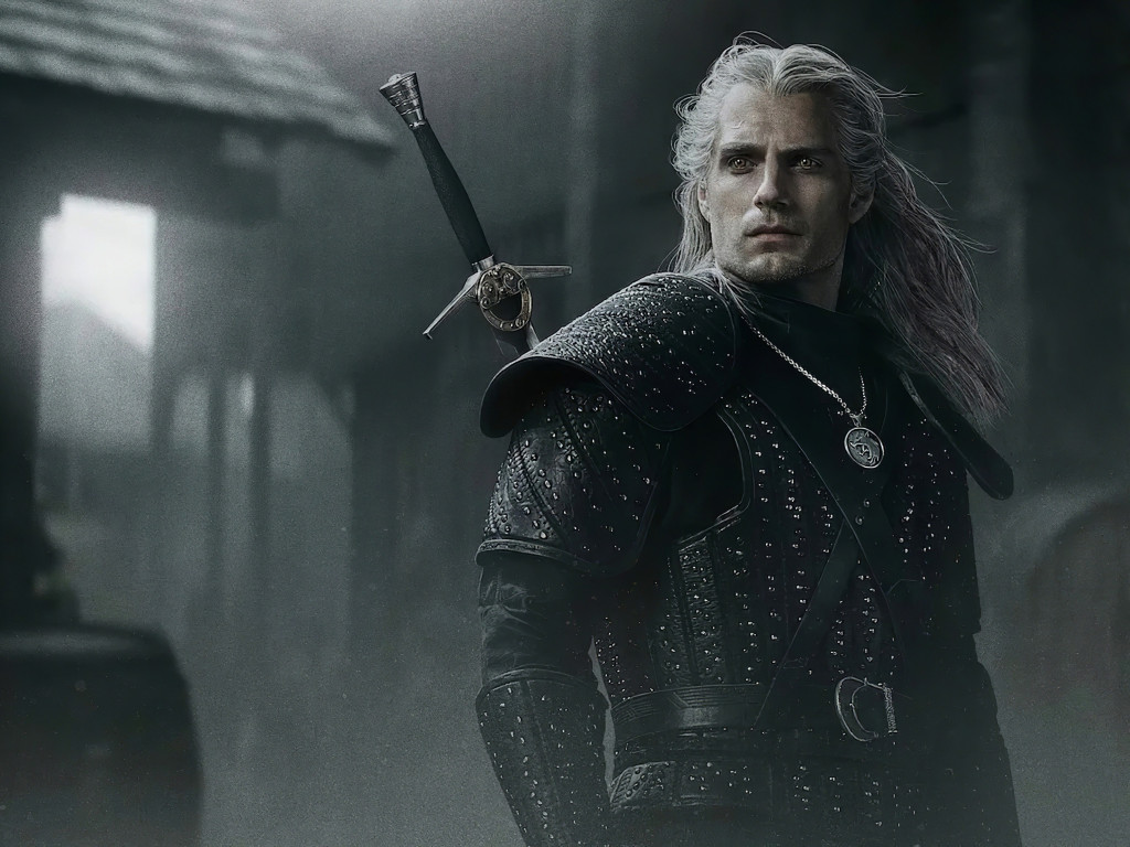 Henry Cavli in The Witcher wallpaper 1024x768