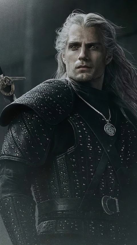 Henry Cavli in The Witcher wallpaper 480x854