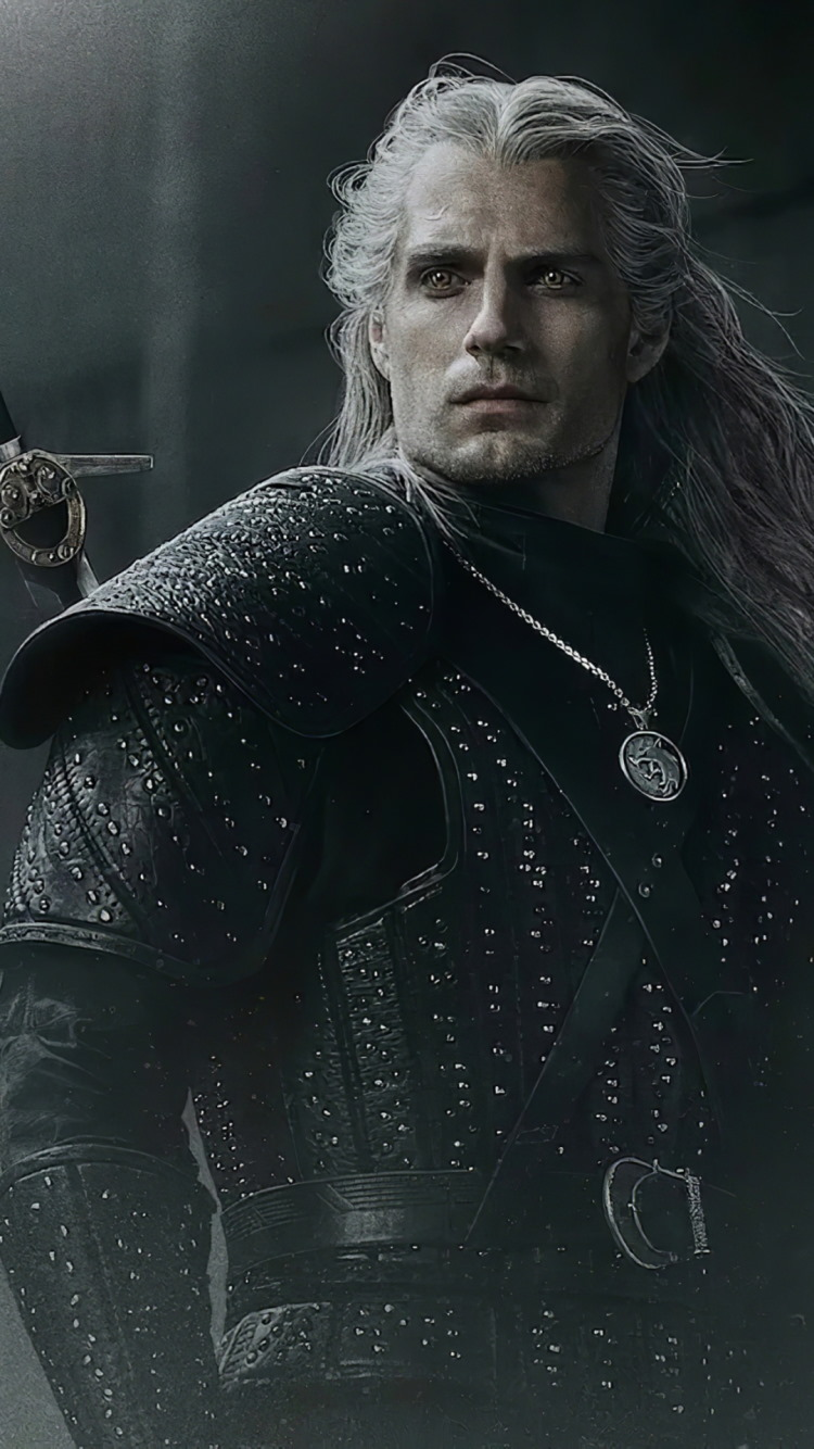 Henry Cavli in The Witcher wallpaper 750x1334