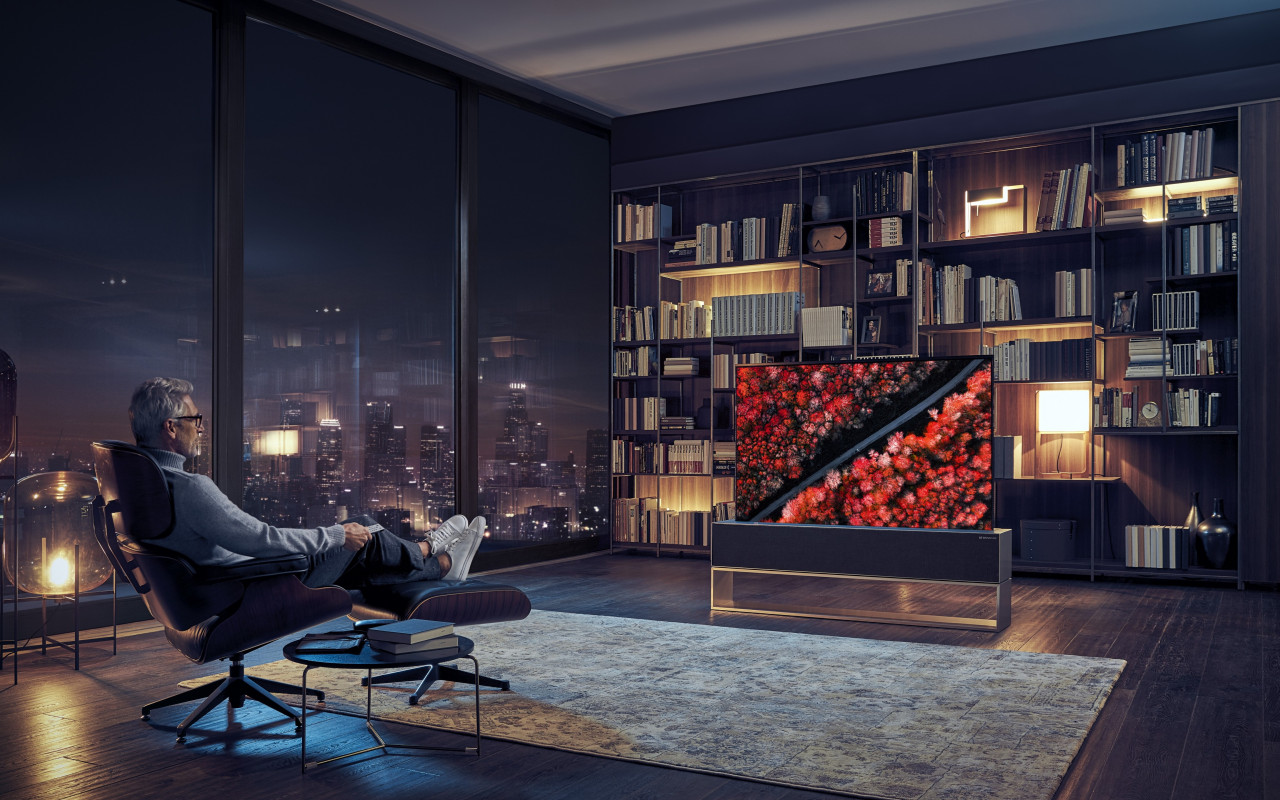 LG Signature OLED TV R wallpaper 1280x800