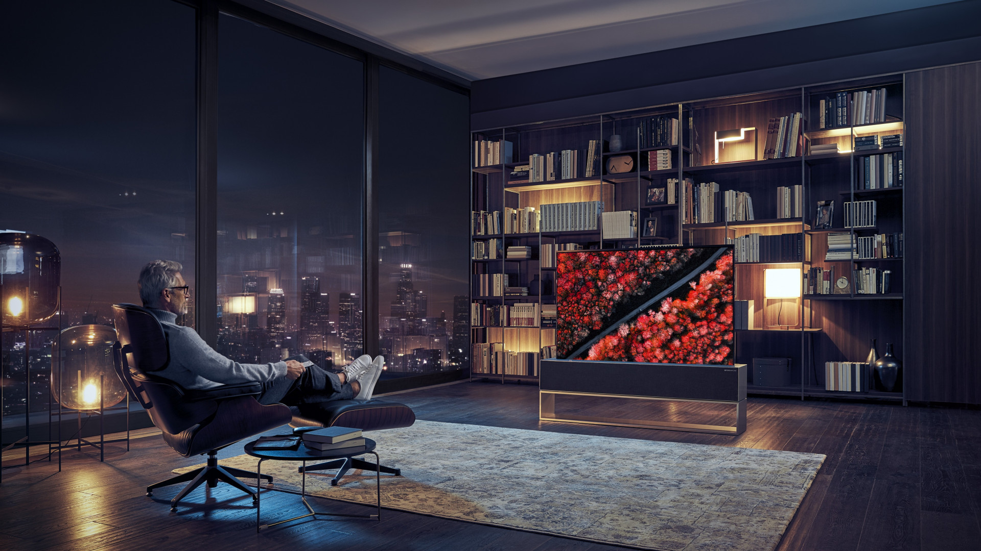 LG Signature OLED TV R wallpaper 1920x1080