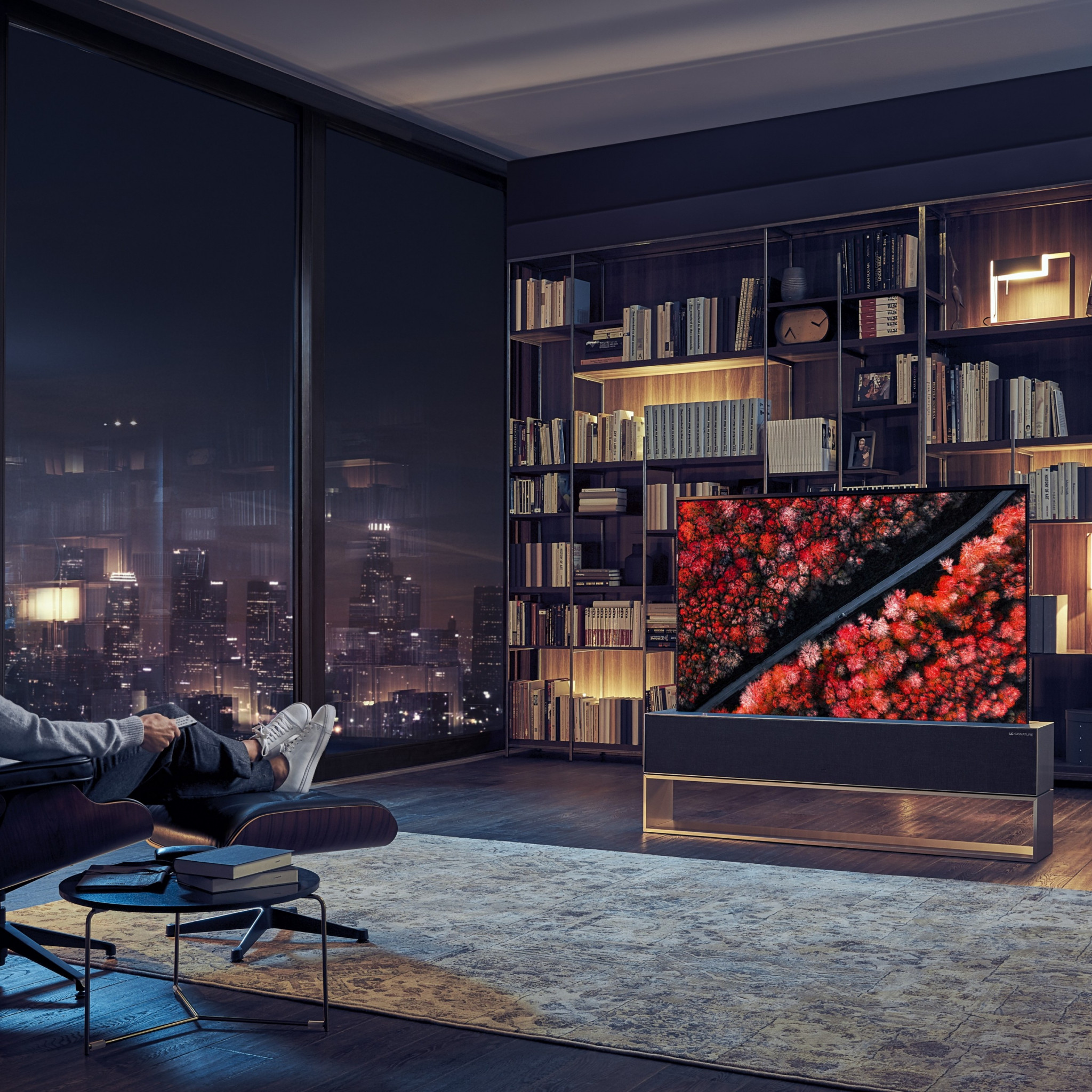 Download wallpaper: LG Signature OLED TV R 2048x2048