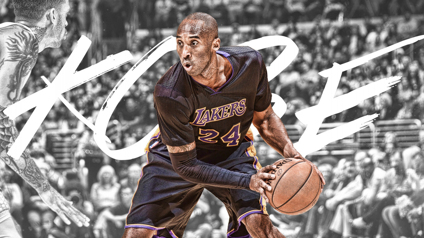 RIP Kobe Bryant wallpaper 1366x768