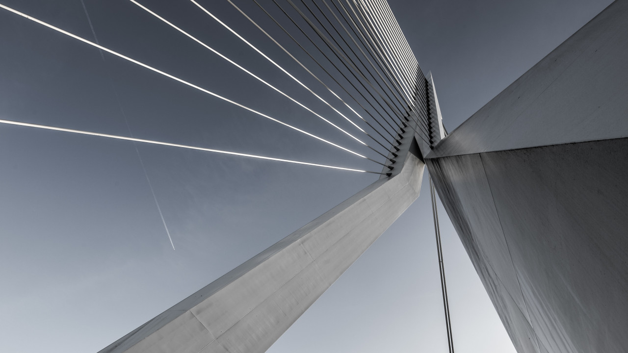 Erasmusbrug bridge wallpaper 1280x720