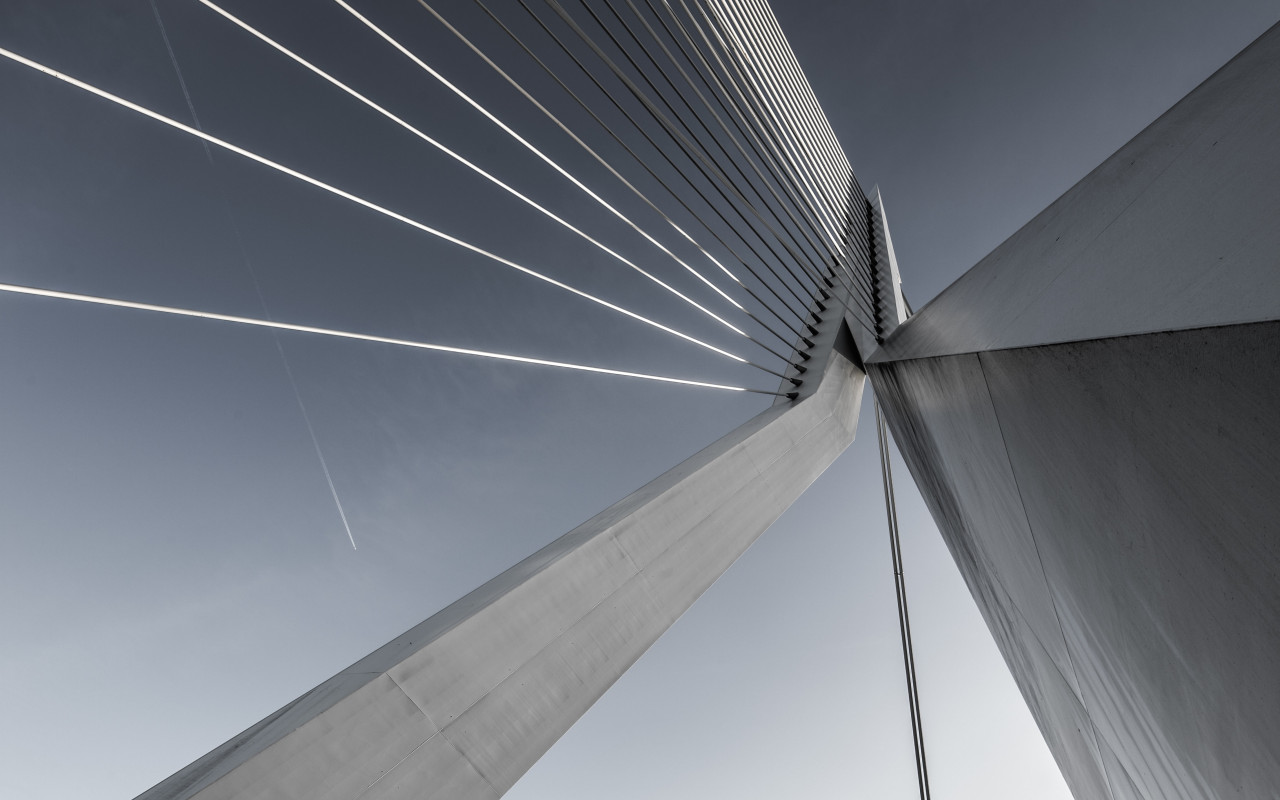 Erasmusbrug bridge wallpaper 1280x800