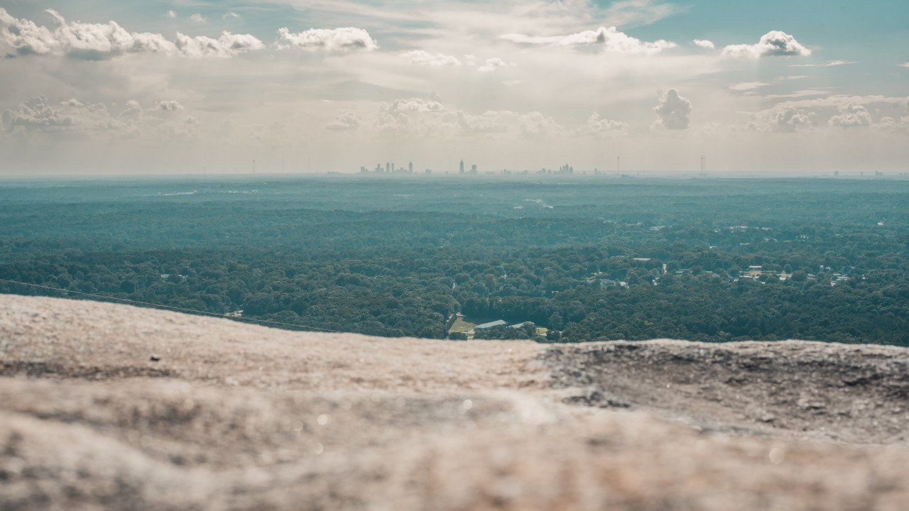 Top of Stone Mountain, Georgia wallpaper 1280x720
