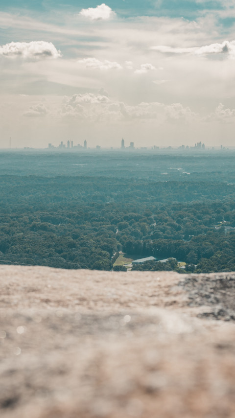 Top of Stone Mountain, Georgia wallpaper 480x854