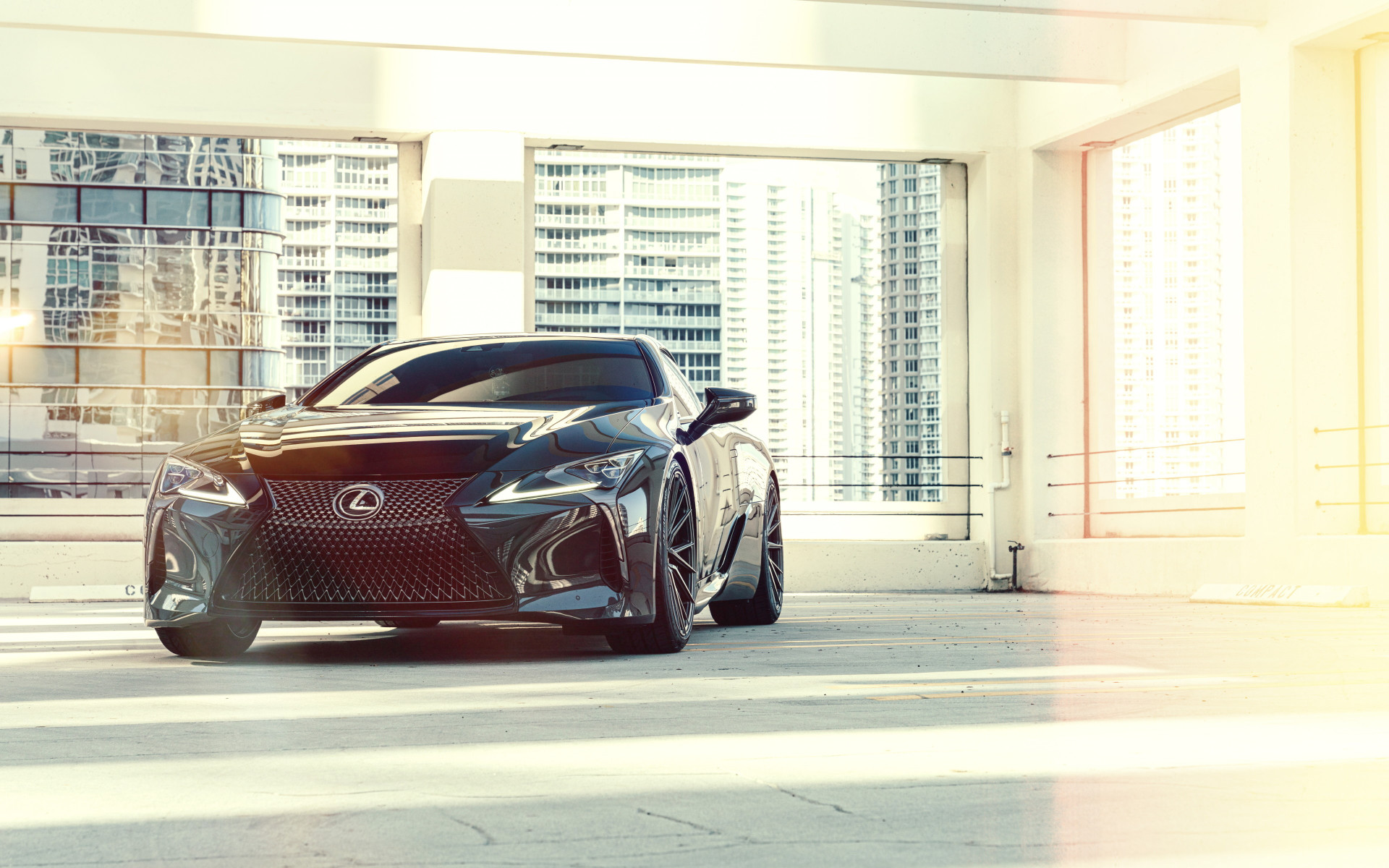 Vossen Dennis Black Lexus LC500 wallpaper 1920x1200