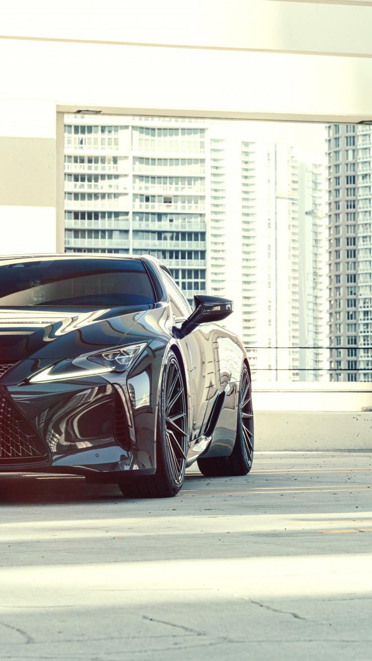 Vossen Dennis Black Lexus LC500 wallpaper 750x1334