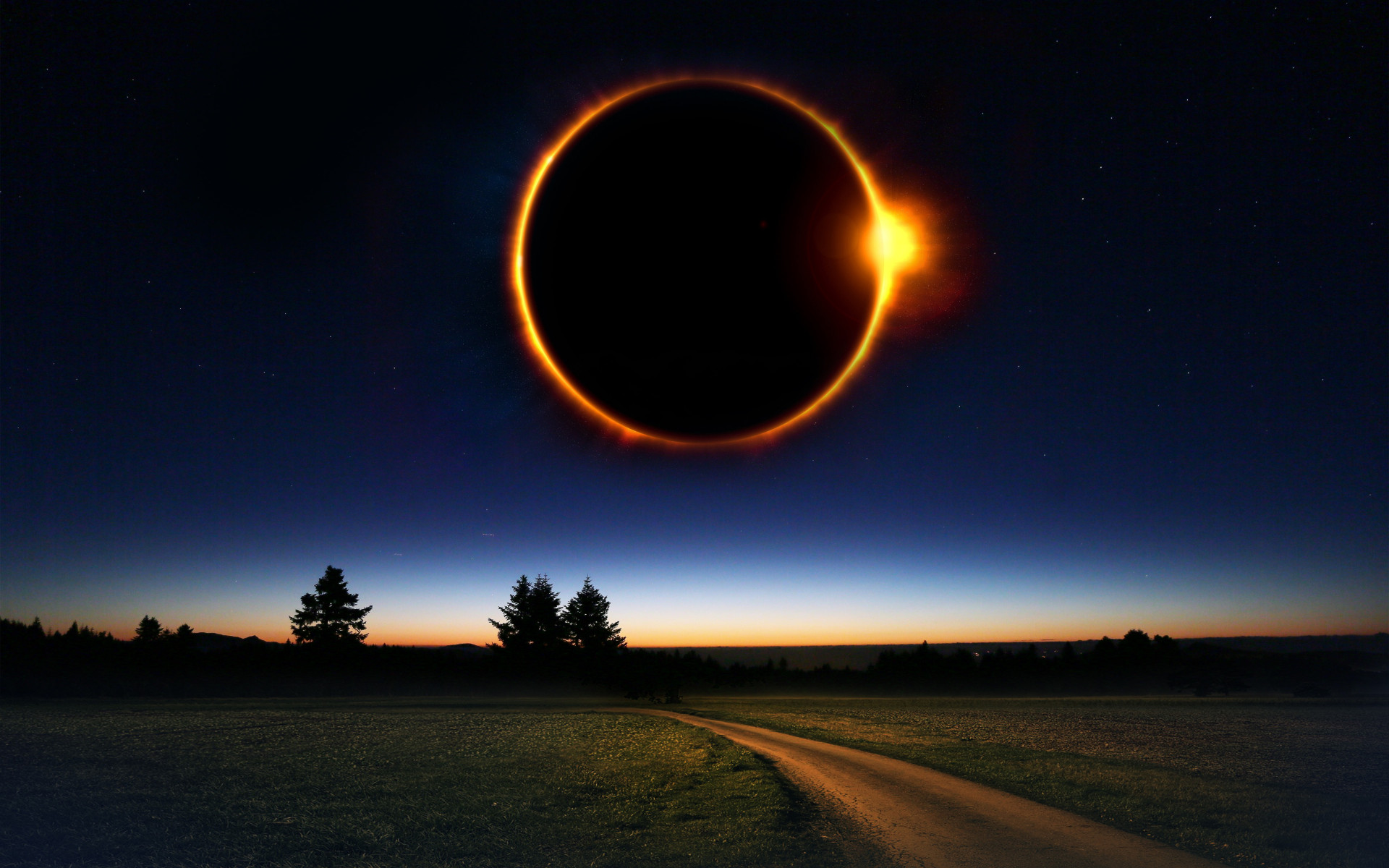 Fantasy solar eclipse wallpaper 1920x1200