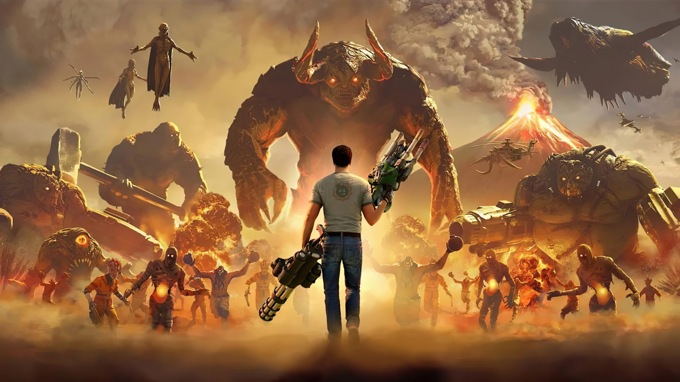 Serious Sam 4 wallpaper 1366x768