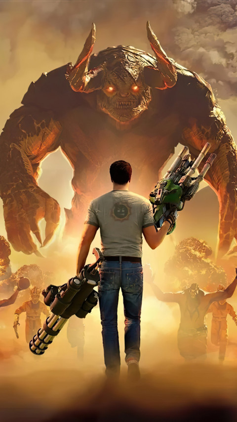 Serious Sam 4 wallpaper 480x854