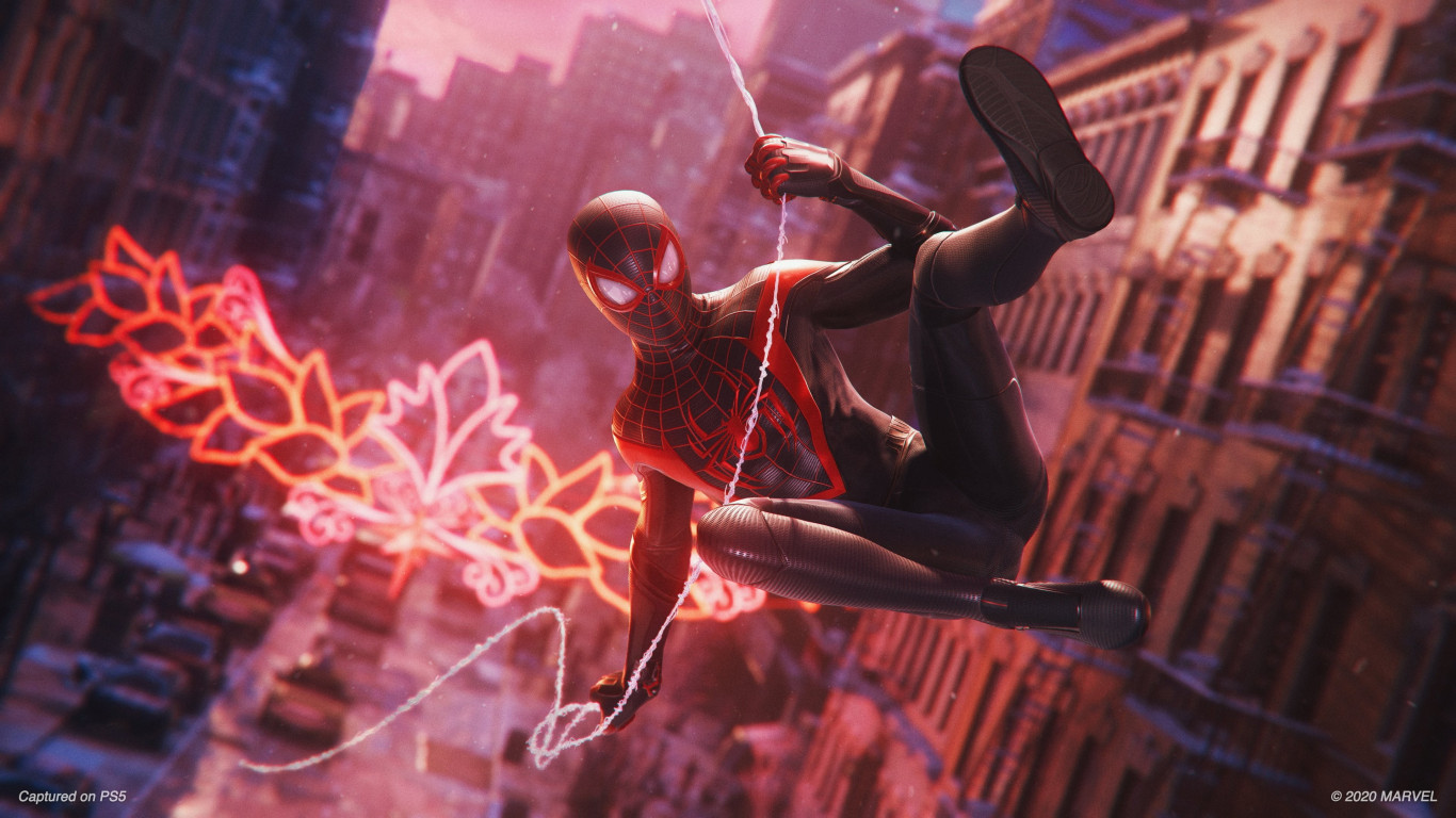 Spider Man: Miles Morales wallpaper 1366x768