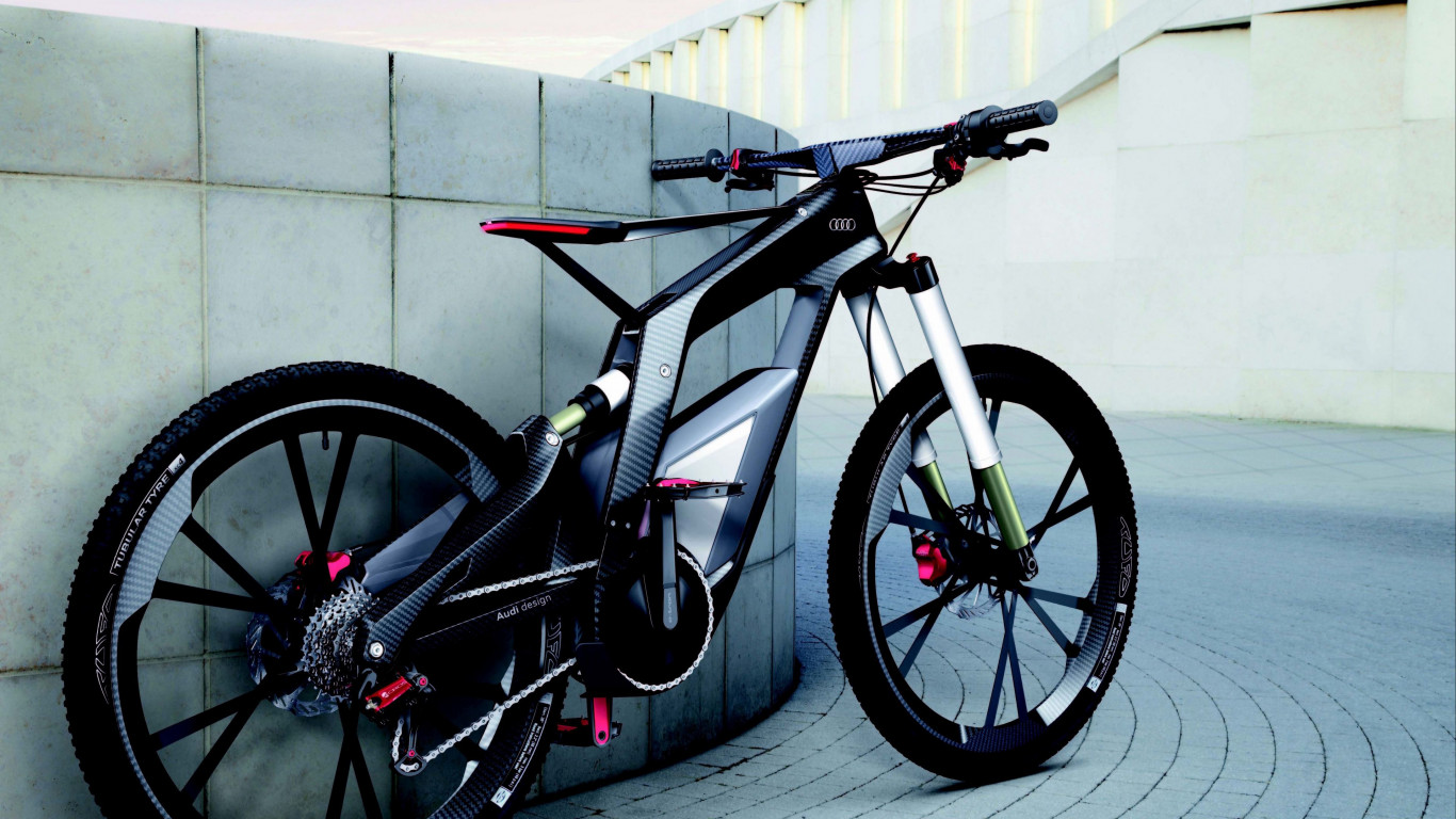 Audi e Bike wallpaper 1366x768