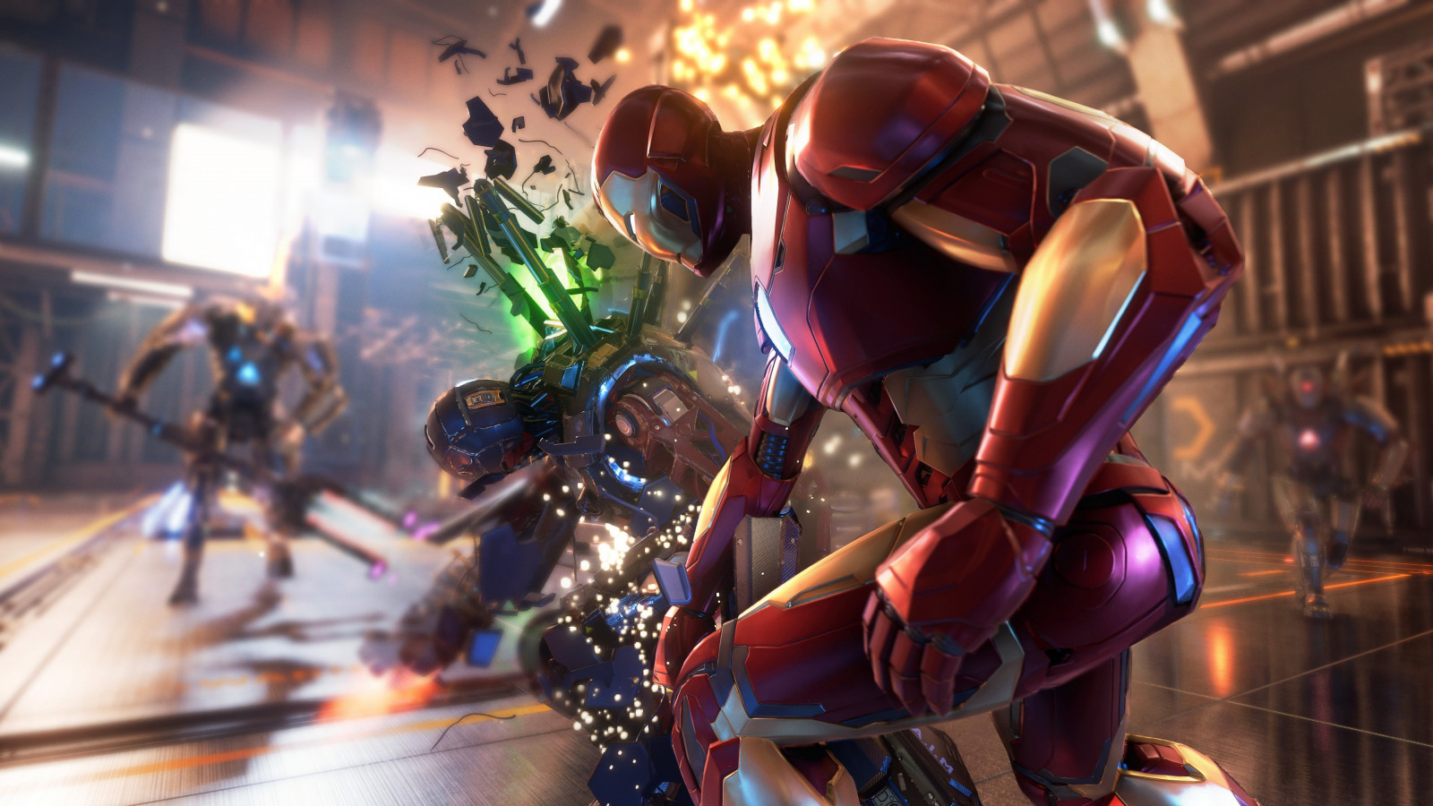 Iron Man in Marvel's Avengers video game wallpaper 1600x900