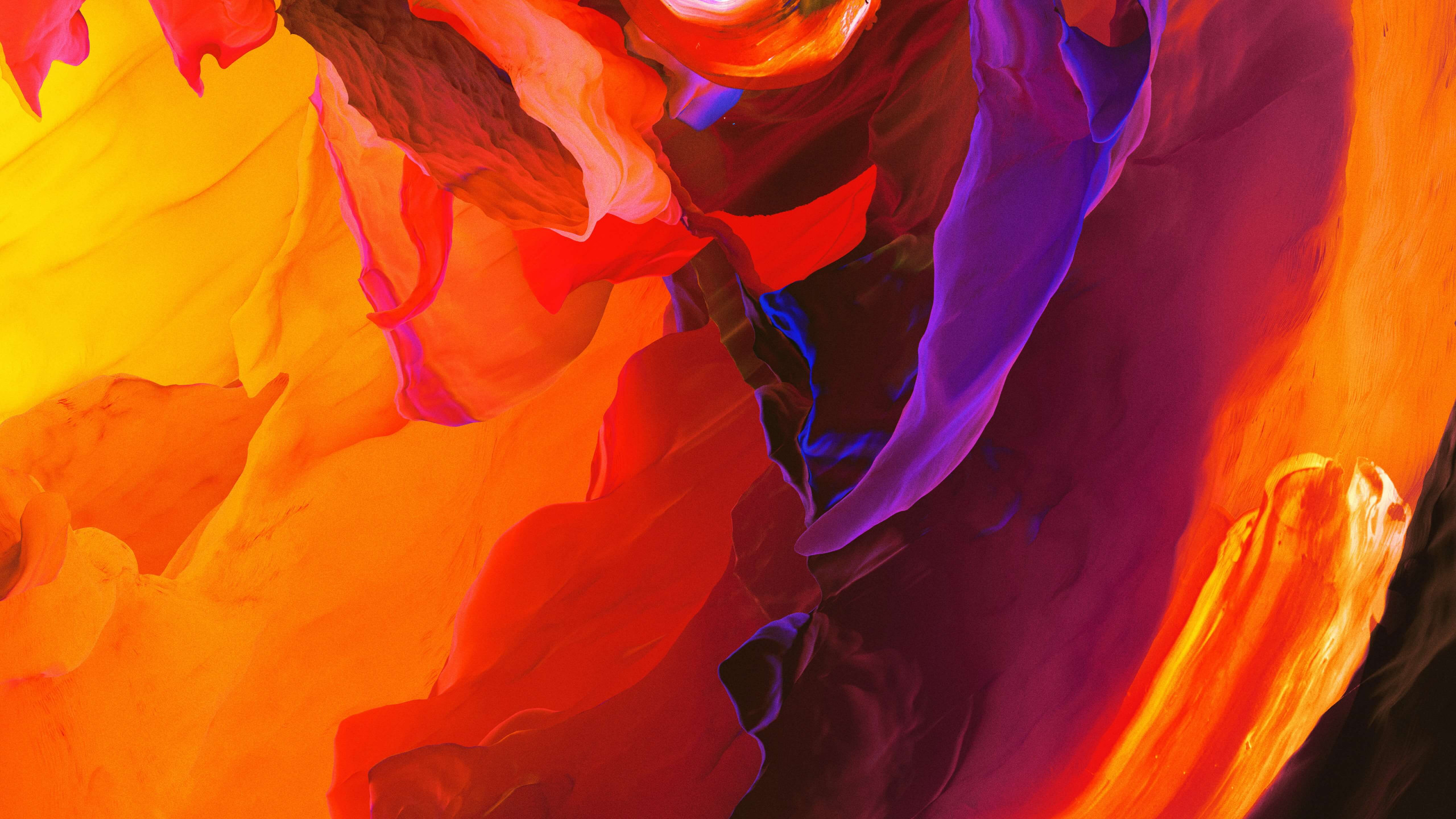 Red Orange Colorful Abstract wallpaper 2560x1440