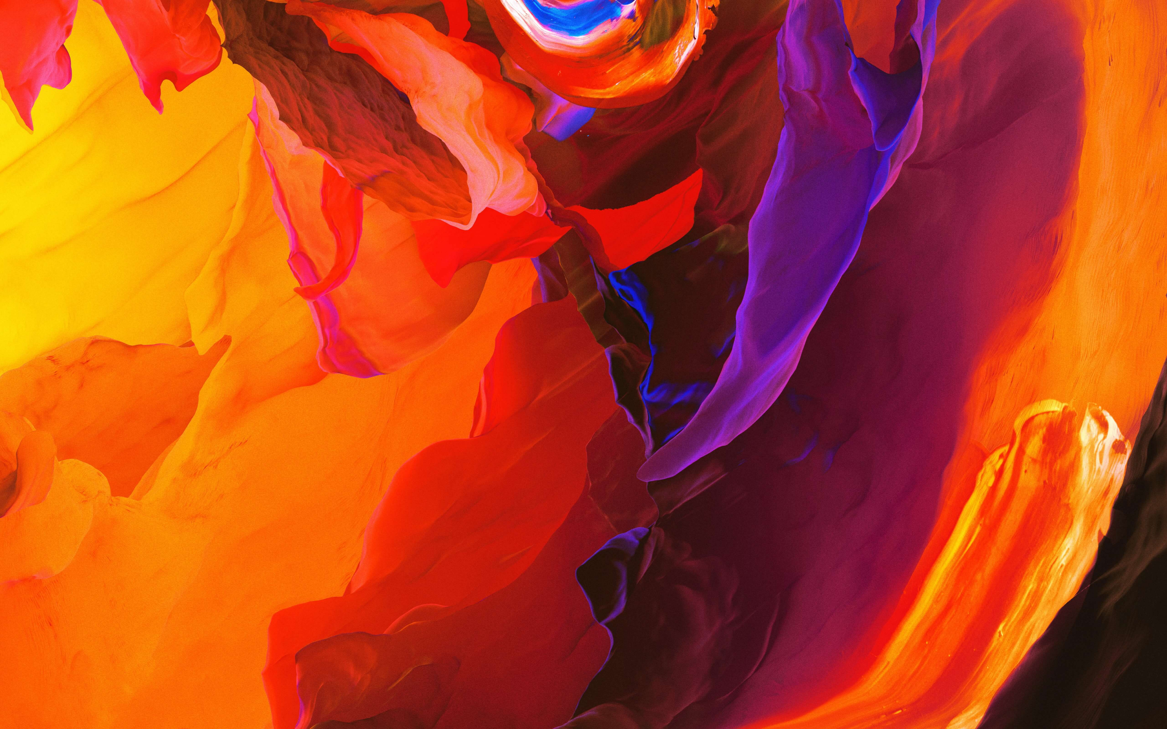 Red Orange Colorful Abstract wallpaper 3840x2400